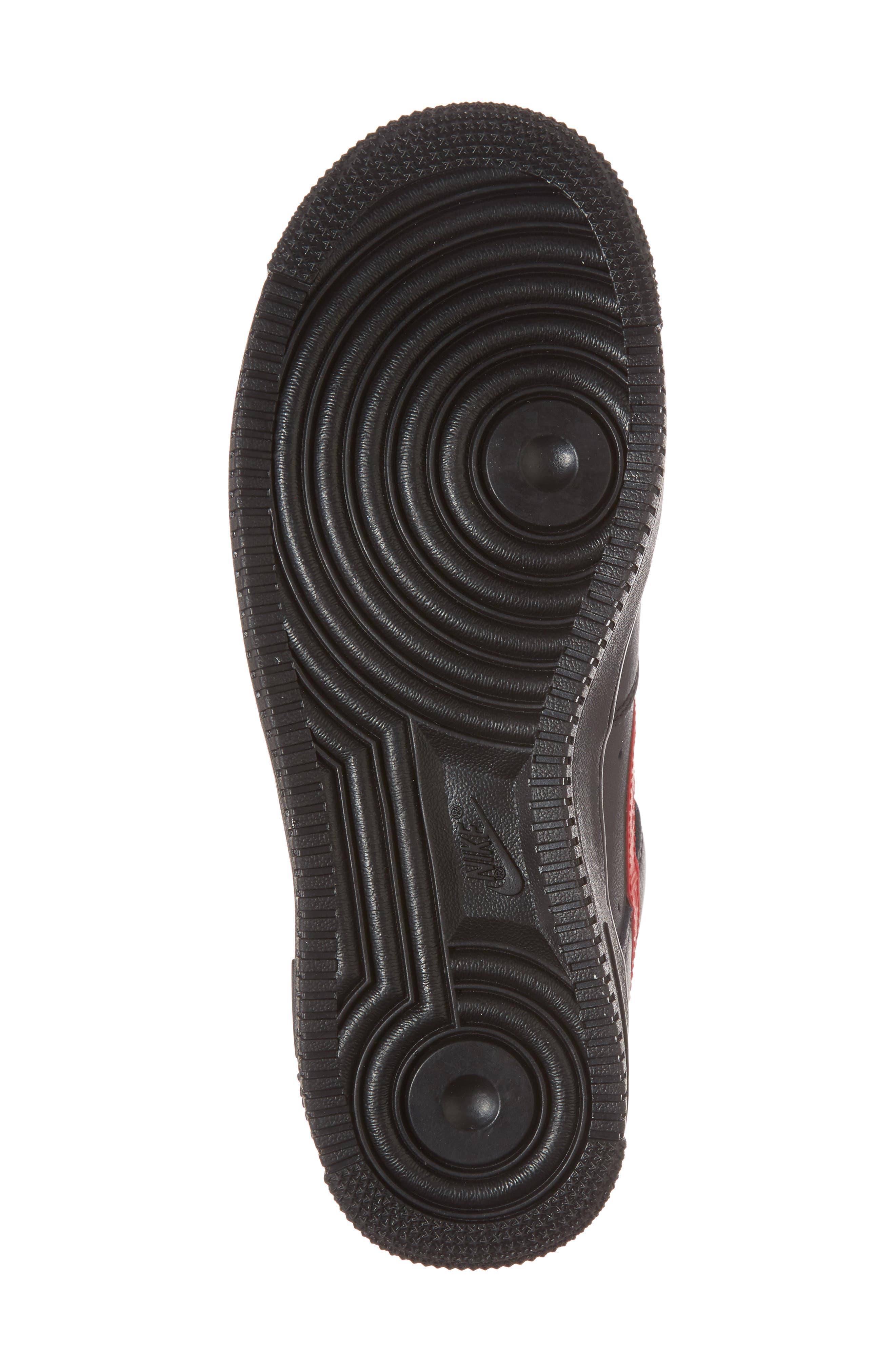 Air Force 1 '07 Sneaker,                             Alternate thumbnail 6, color,                             Black/ University Red