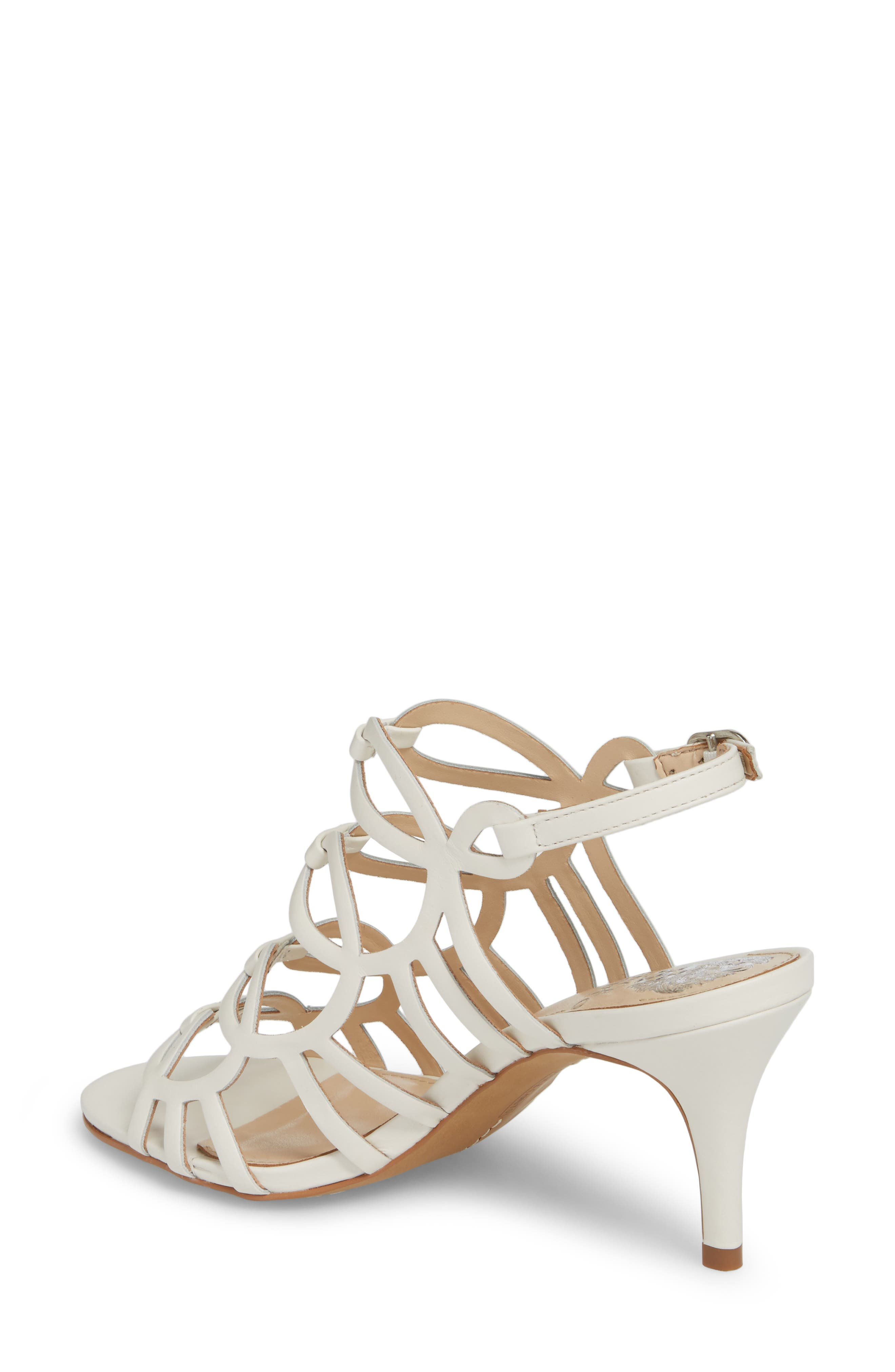 Petina Sandal,                             Alternate thumbnail 2, color,                             White Leather