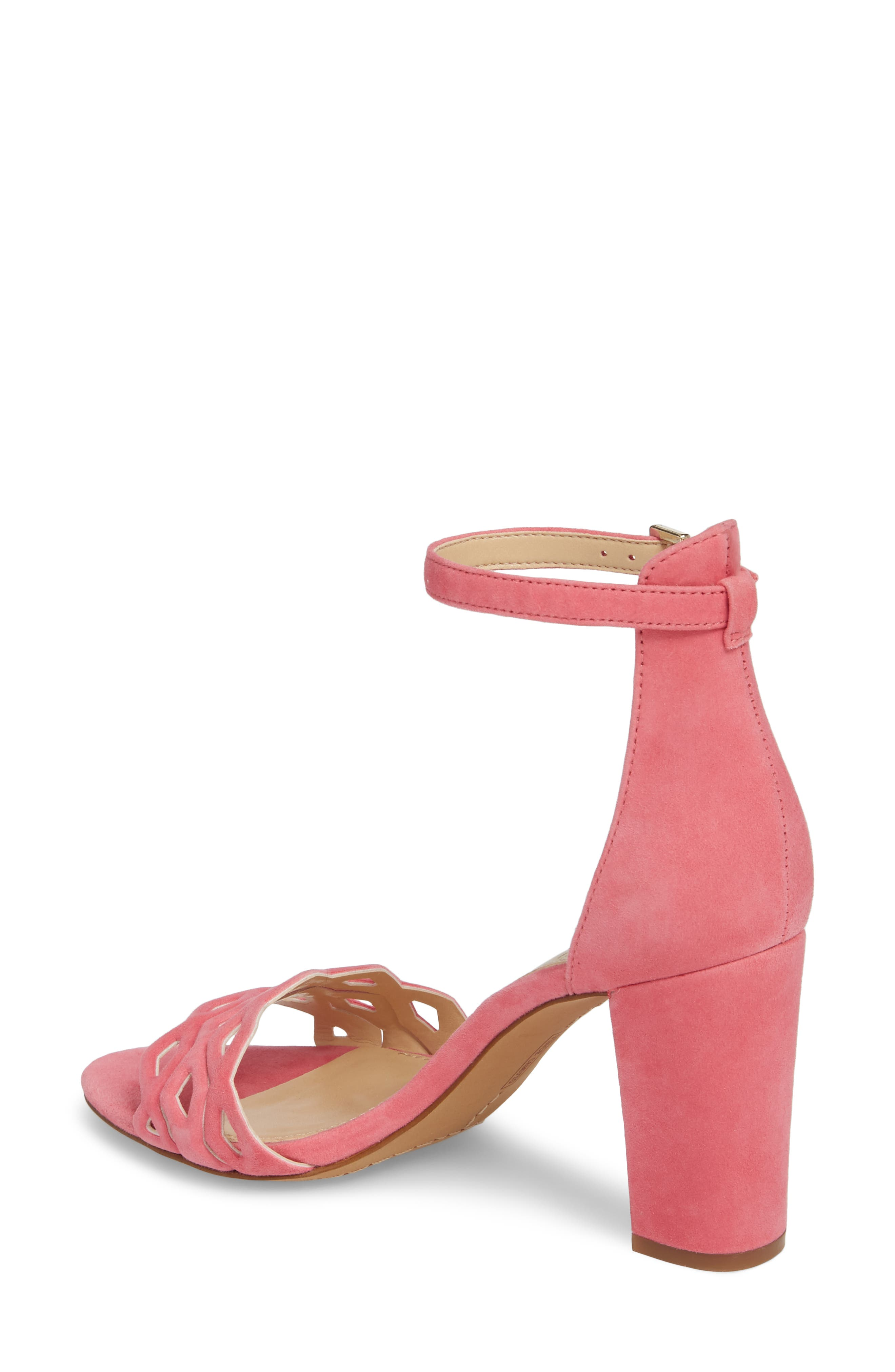 Caveena Block Heel Sandal,                             Alternate thumbnail 2, color,                             Soft Pink Suede