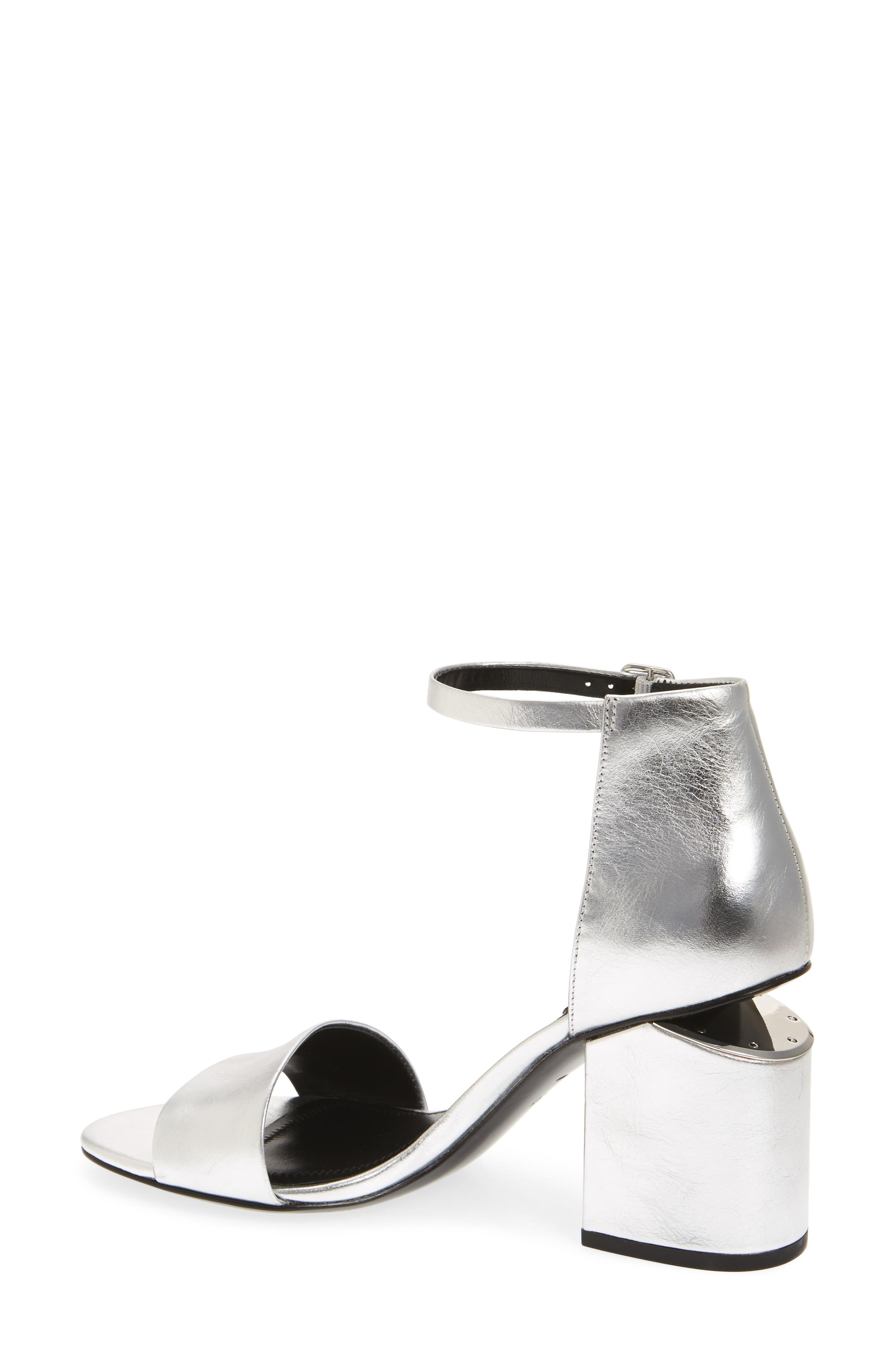 Abby Ankle Strap Sandal,                             Alternate thumbnail 2, color,                             Silver
