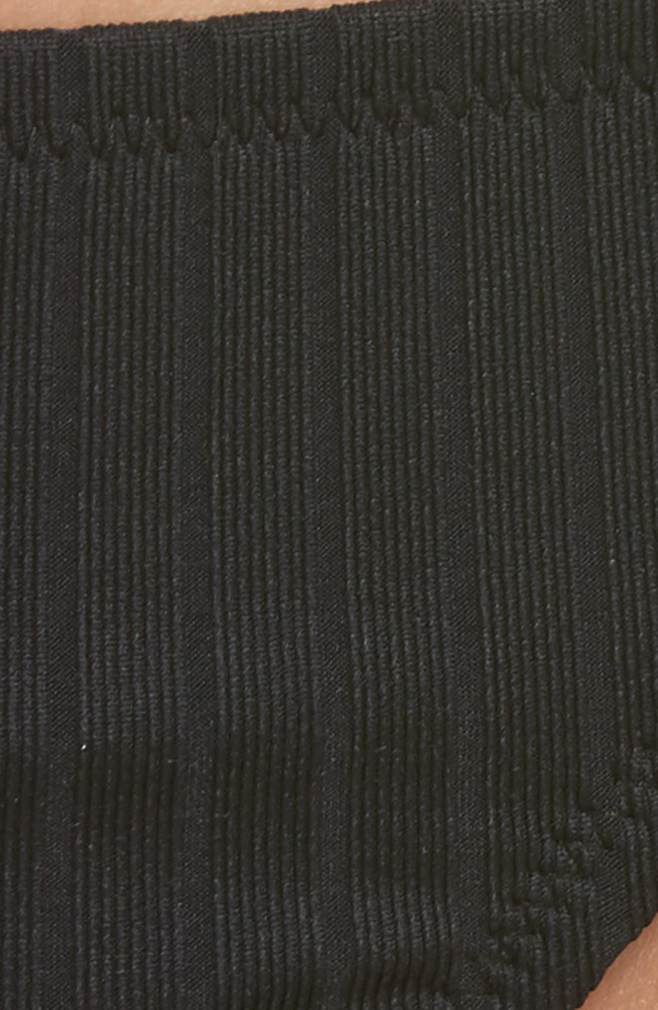 Effie Bikini Bottoms,                             Alternate thumbnail 8, color,                             Black Rib