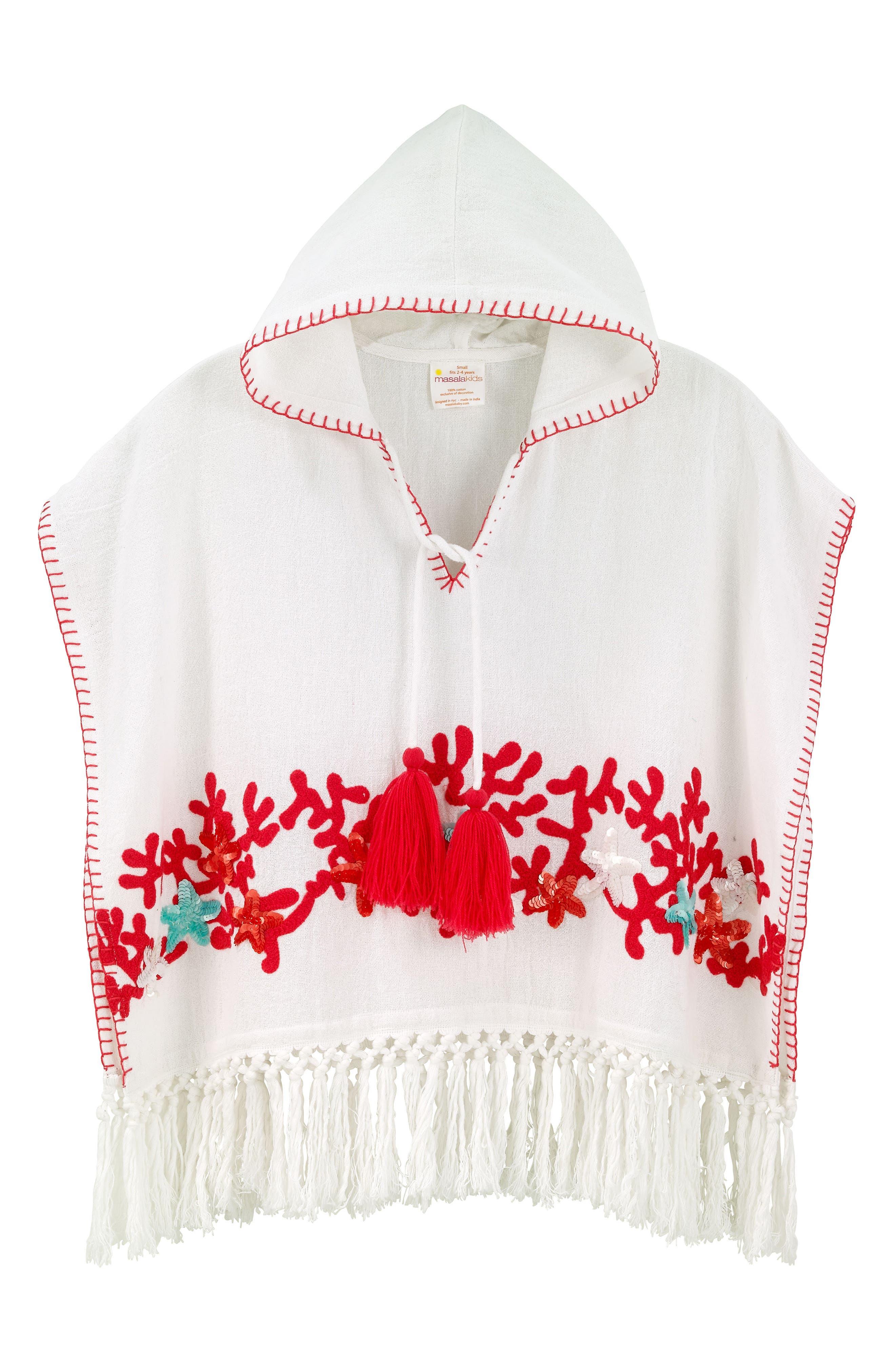 Masalababy Rambagh Embroidered Hooded Caftan (Baby Girls, Toddler Girls, Little Girls & Big Girls)