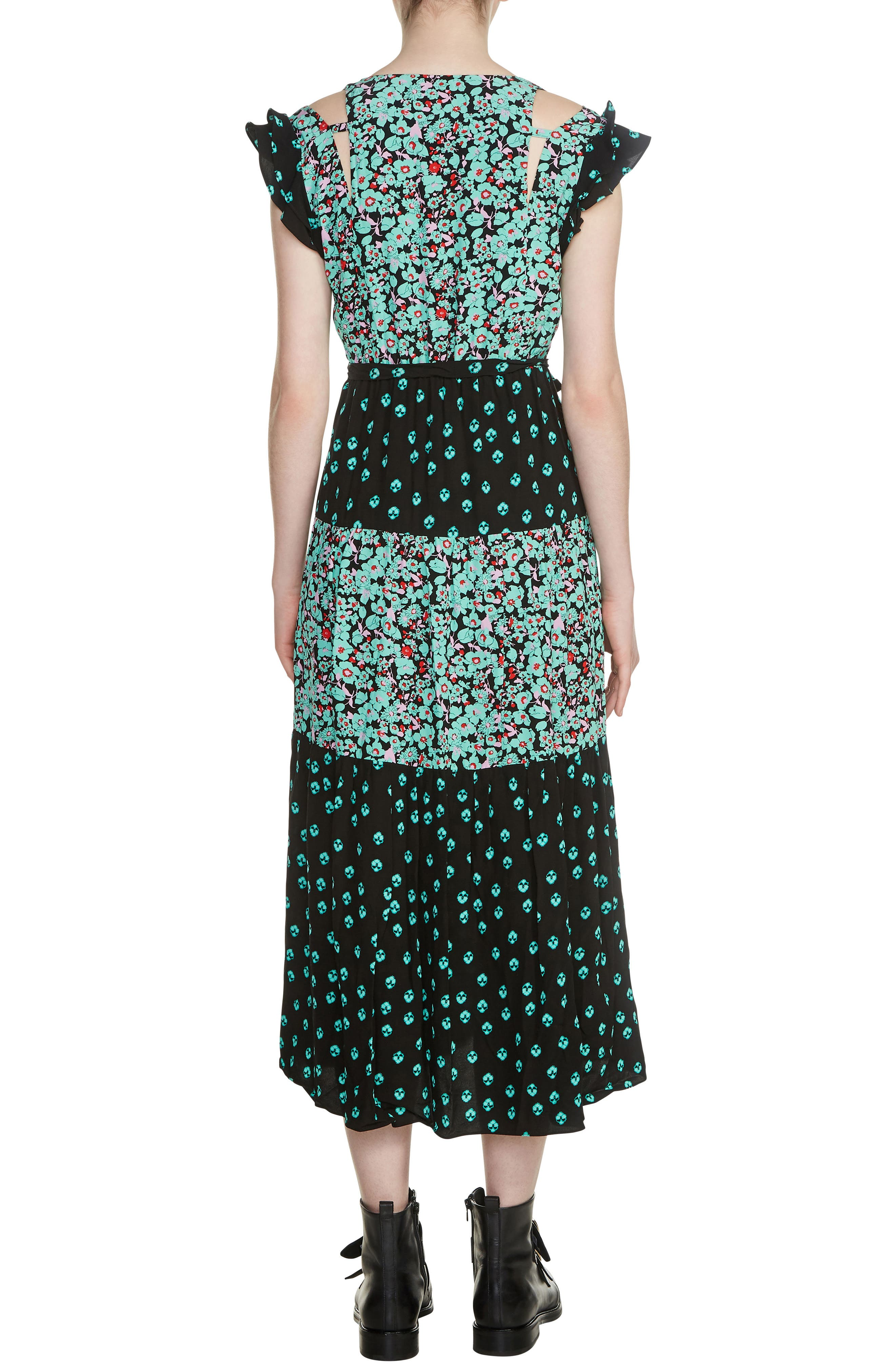 Renoli Mixed Print Midi Dress,                             Alternate thumbnail 2, color,                             Printed