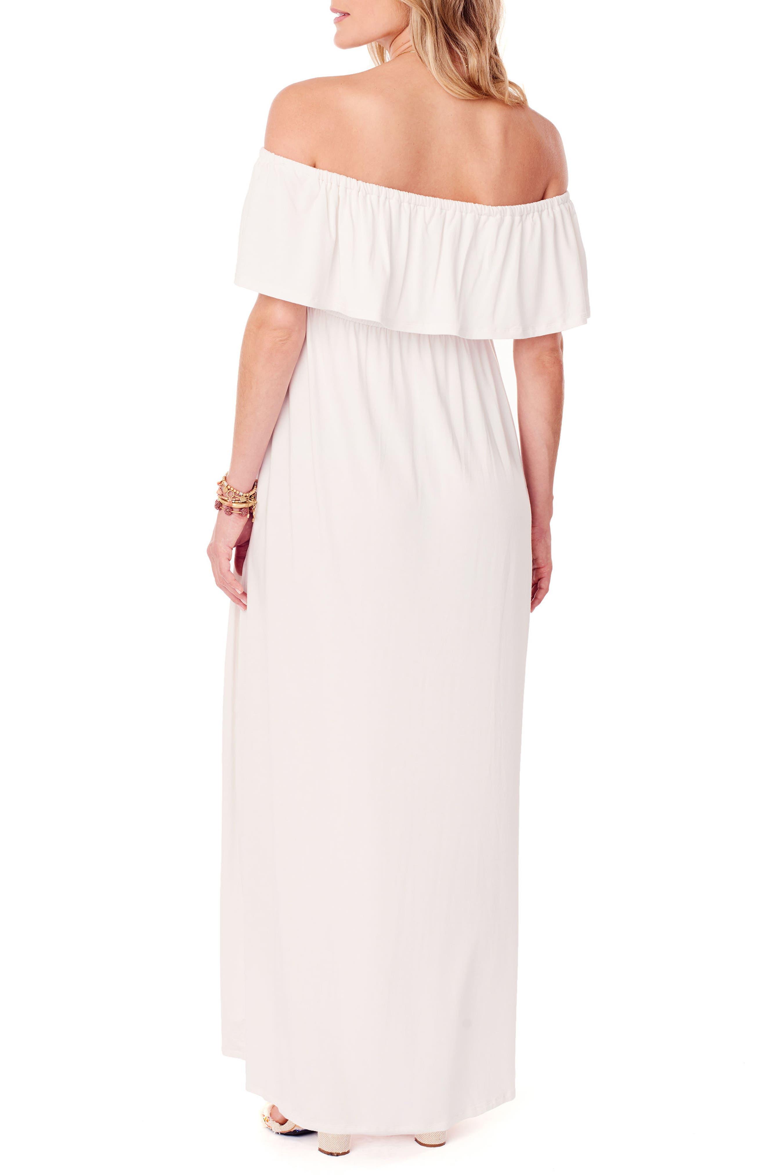Alternate Image 2  - Ingrid & Isabel® Off the Shoulder Maternity Maxi Dress