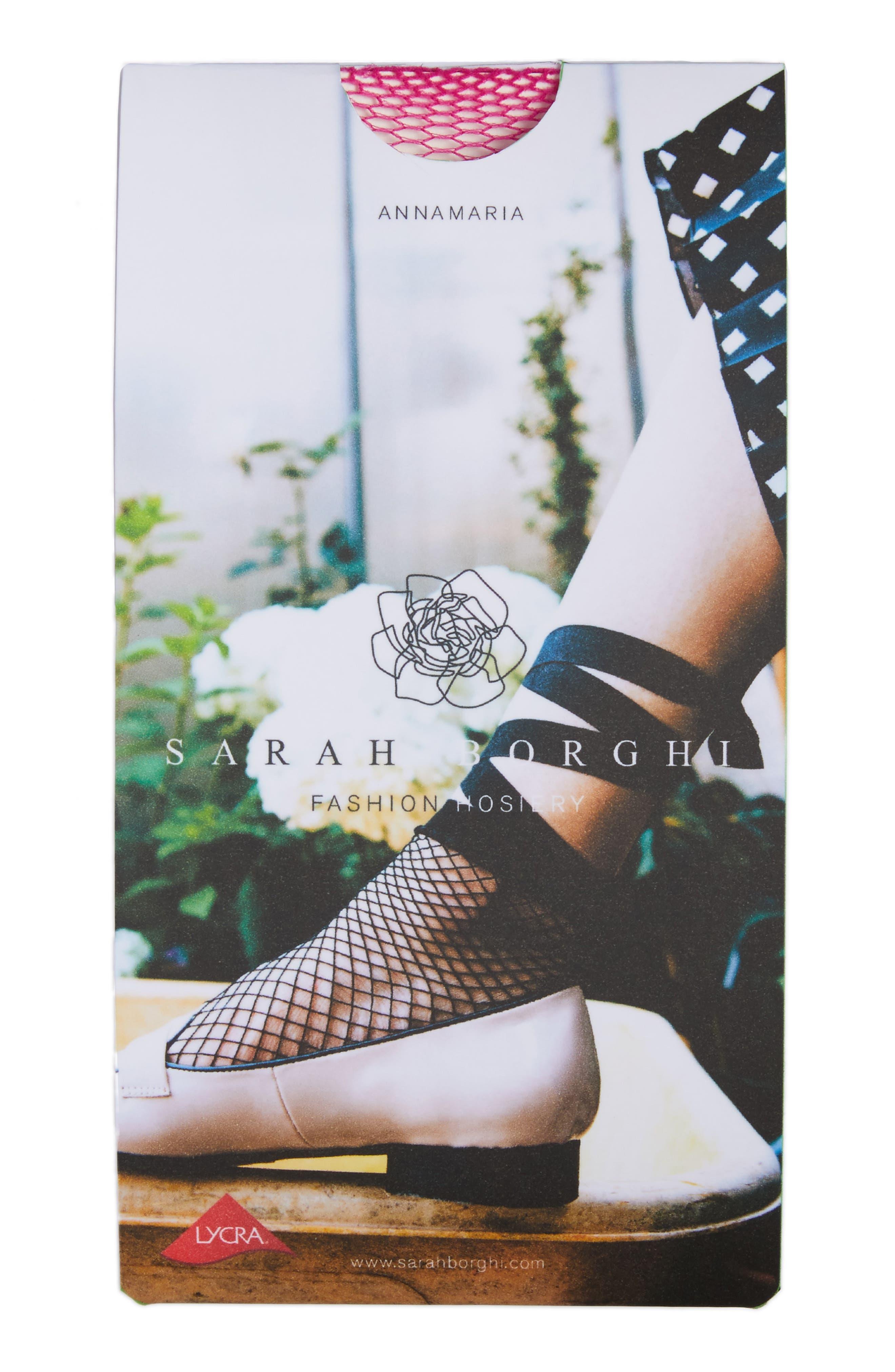Annamaria Lace-Up Socks,                             Alternate thumbnail 2, color,                             Azalea