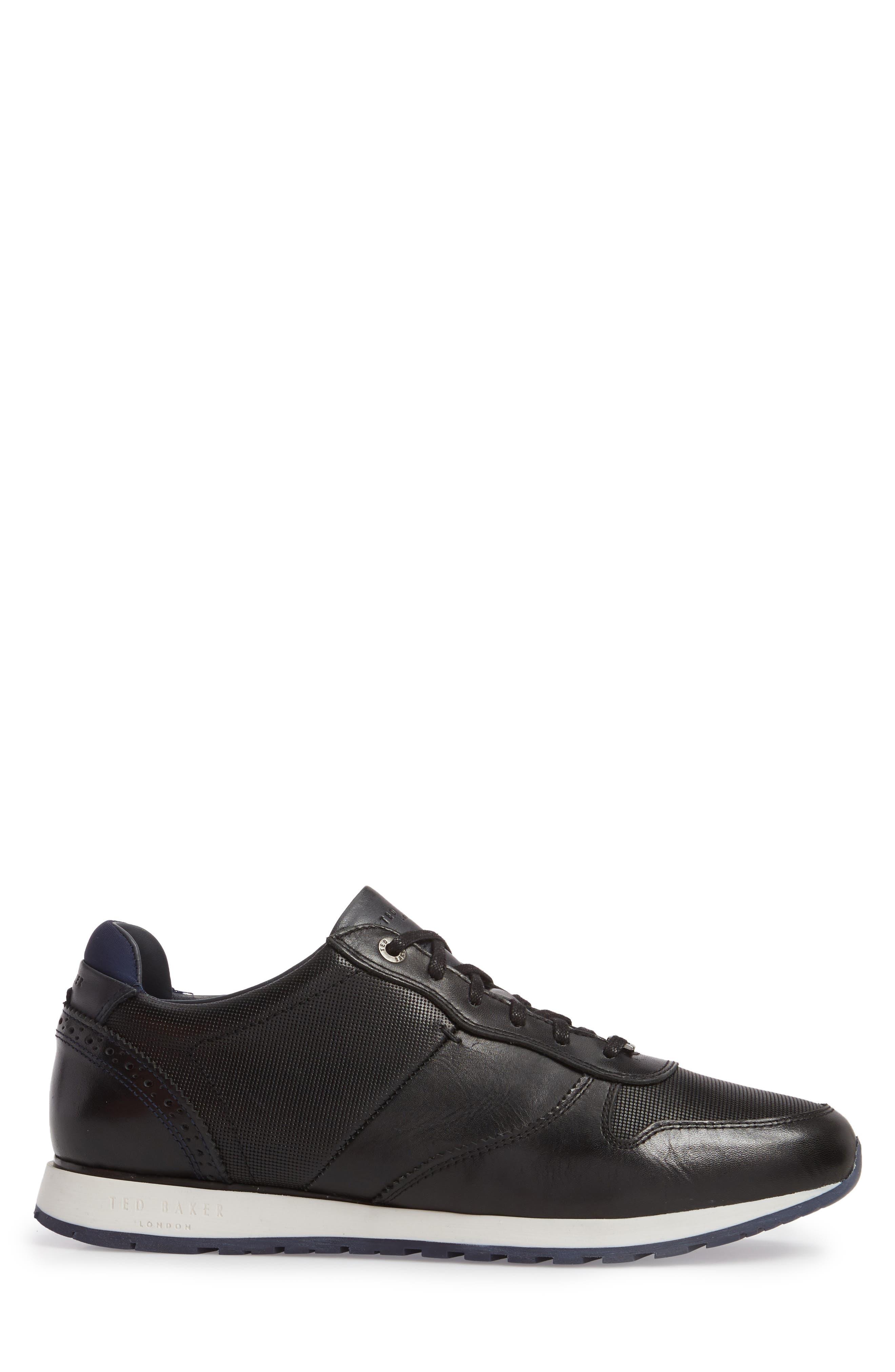 Shindl Sneaker,                             Alternate thumbnail 3, color,                             Black Leather