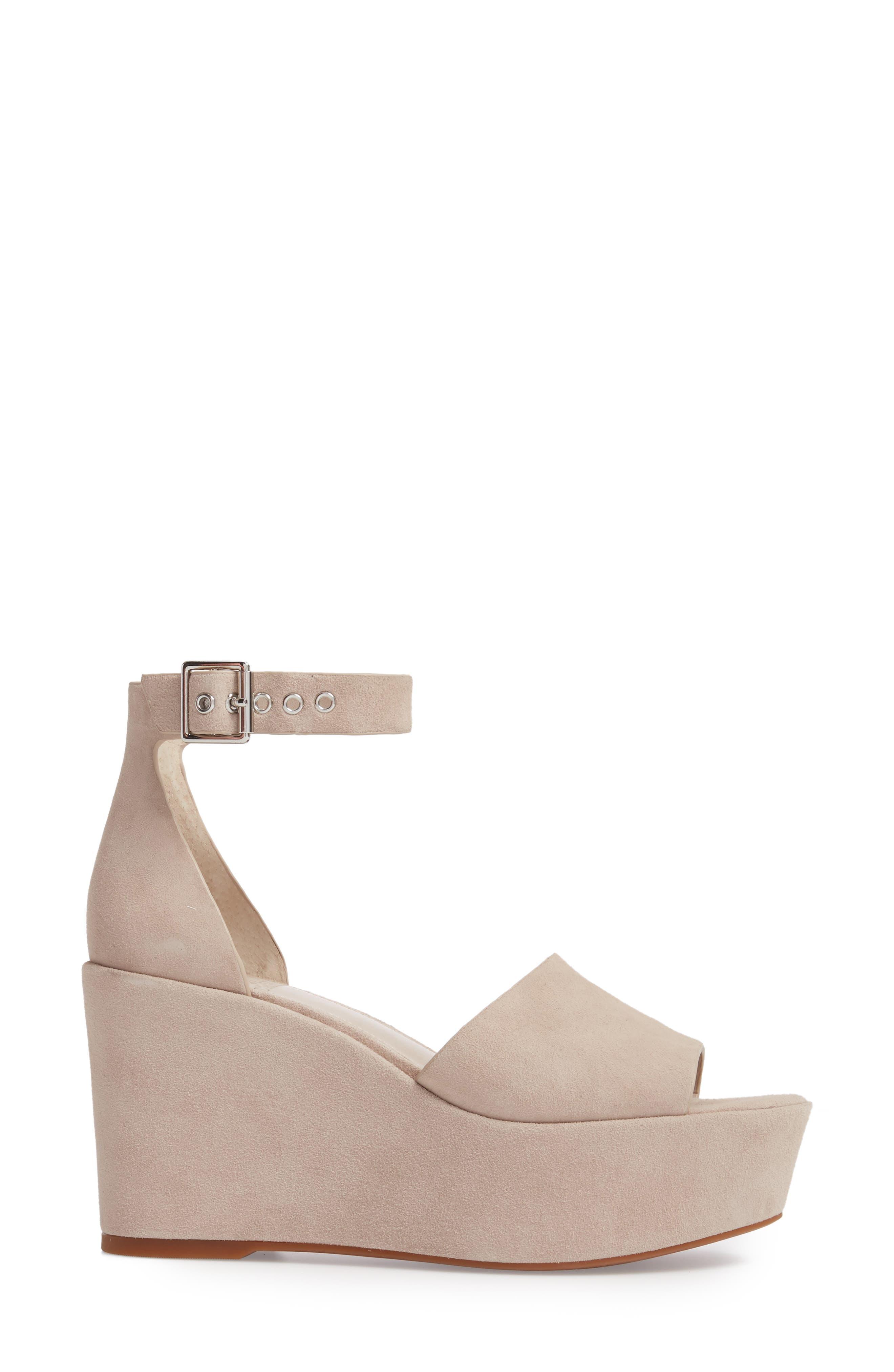 Korista Platform Sandal,                             Alternate thumbnail 3, color,                             Tipsy Taupe Suede