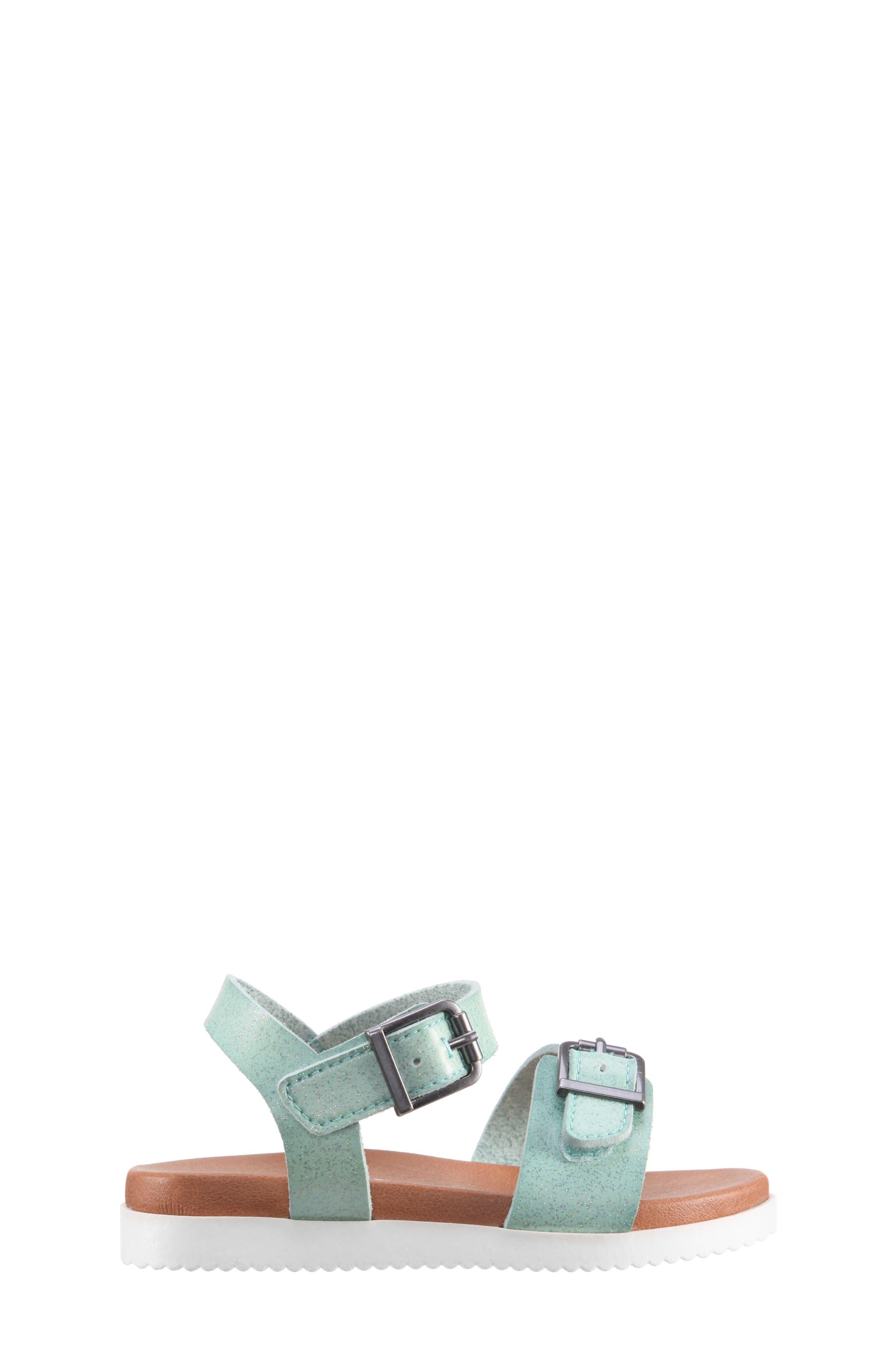 Jacklin3 Quarter Strap Sandal,                             Alternate thumbnail 3, color,                             Mint Dip Dye