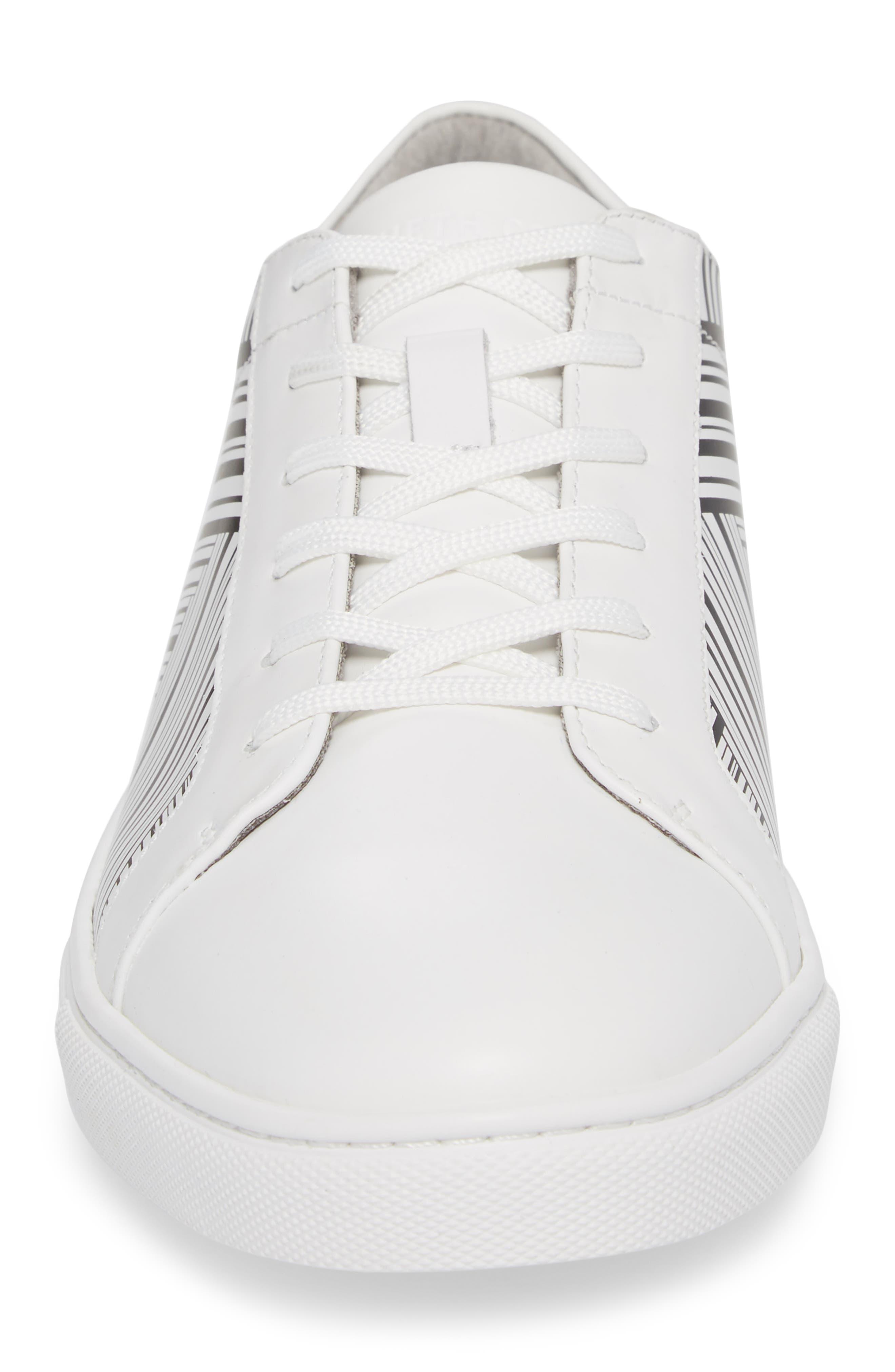 Kam Sneaker,                             Alternate thumbnail 4, color,                             White/ Black Leather