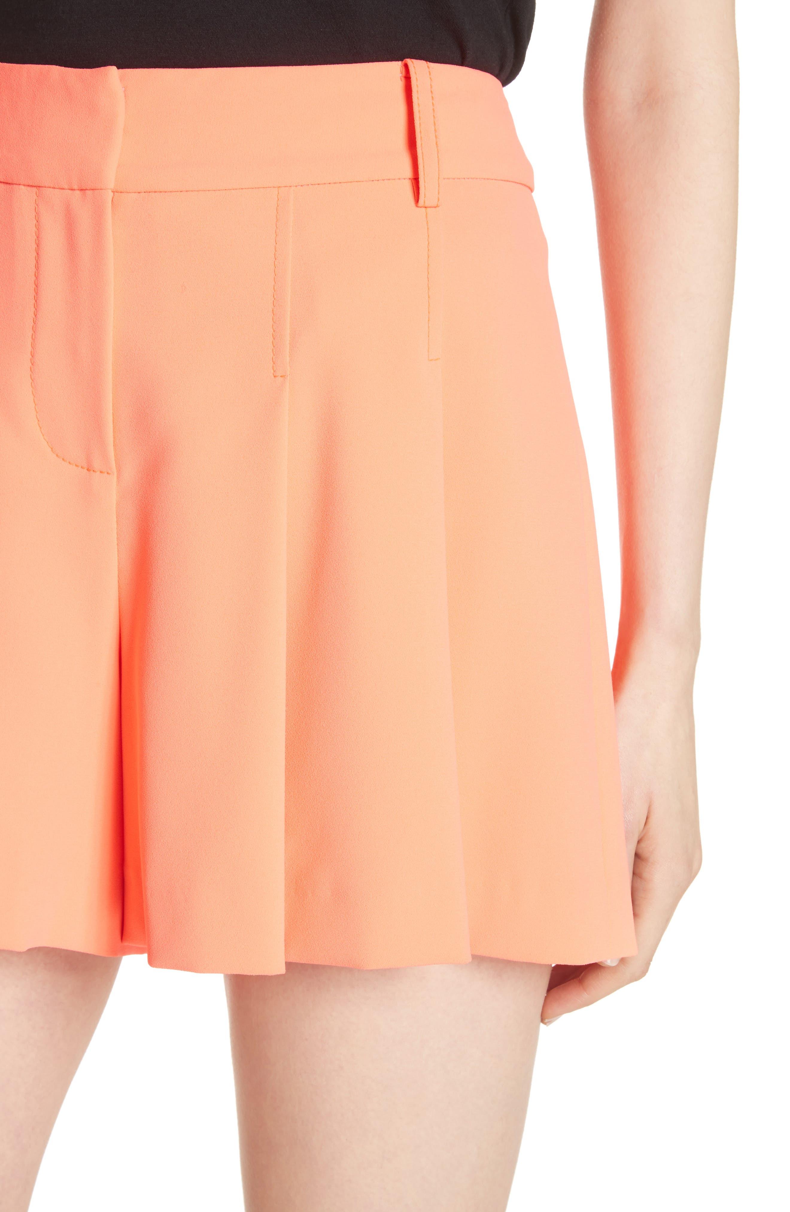 Scarlet Flutter Shorts,                             Alternate thumbnail 4, color,                             Neon Coral
