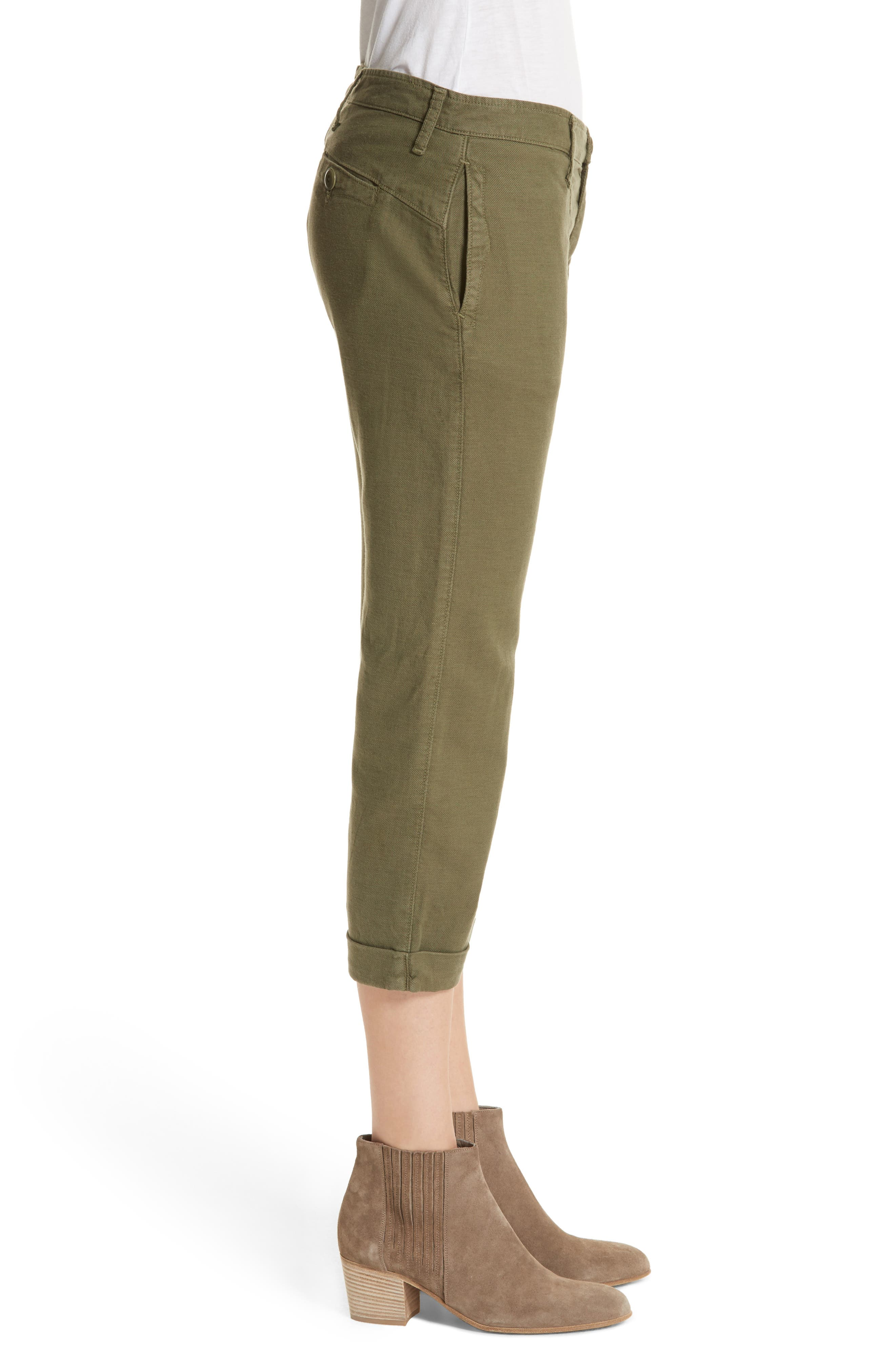 The Saddle Trouser,                             Alternate thumbnail 3, color,                             Army