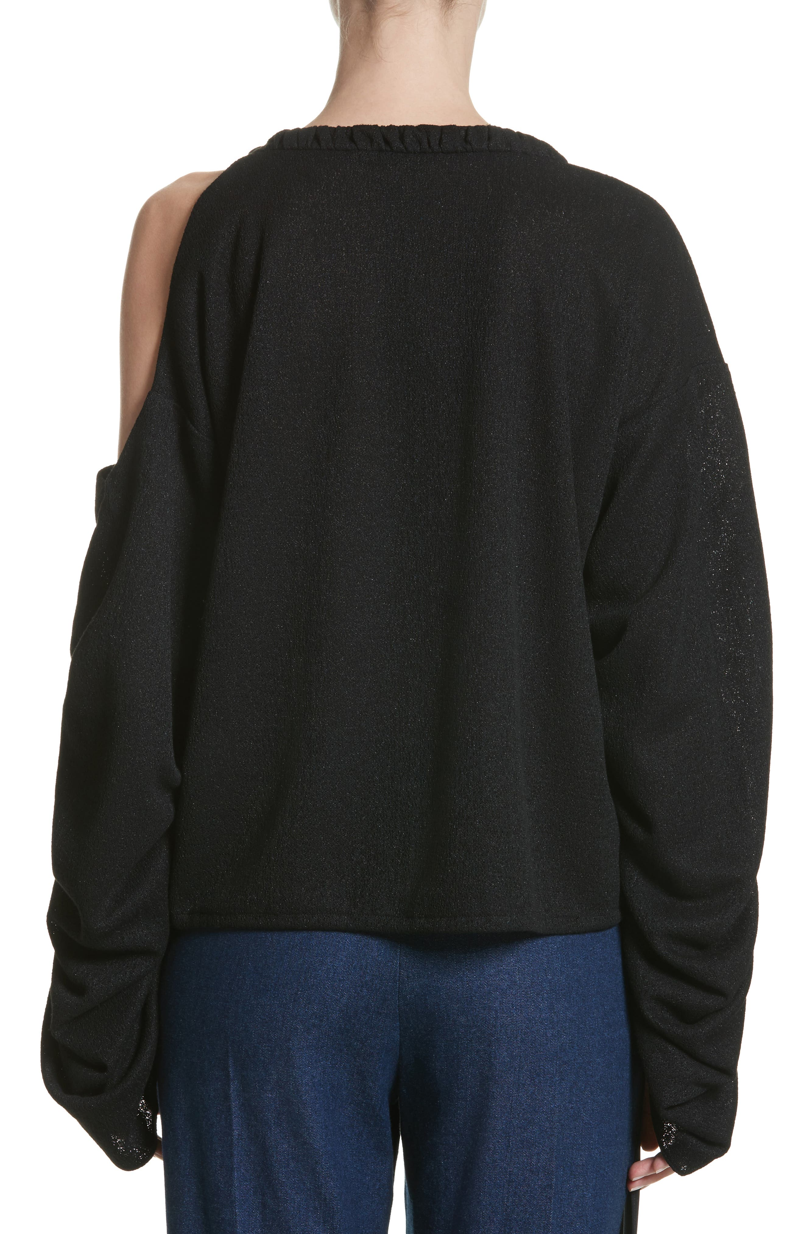 Joshua Cold Shoulder Pullover,                             Alternate thumbnail 2, color,                             Black