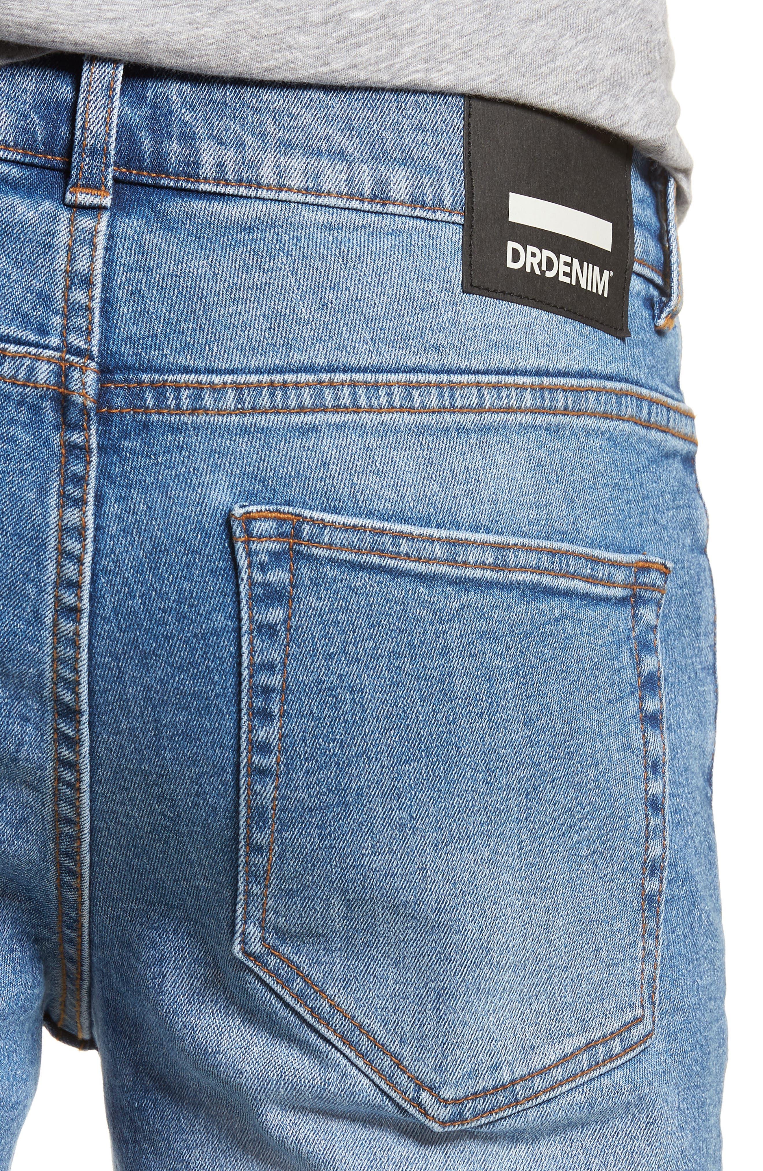 Clark Slim Straight Leg Jeans,                             Alternate thumbnail 4, color,                             Shaded Mid Blue