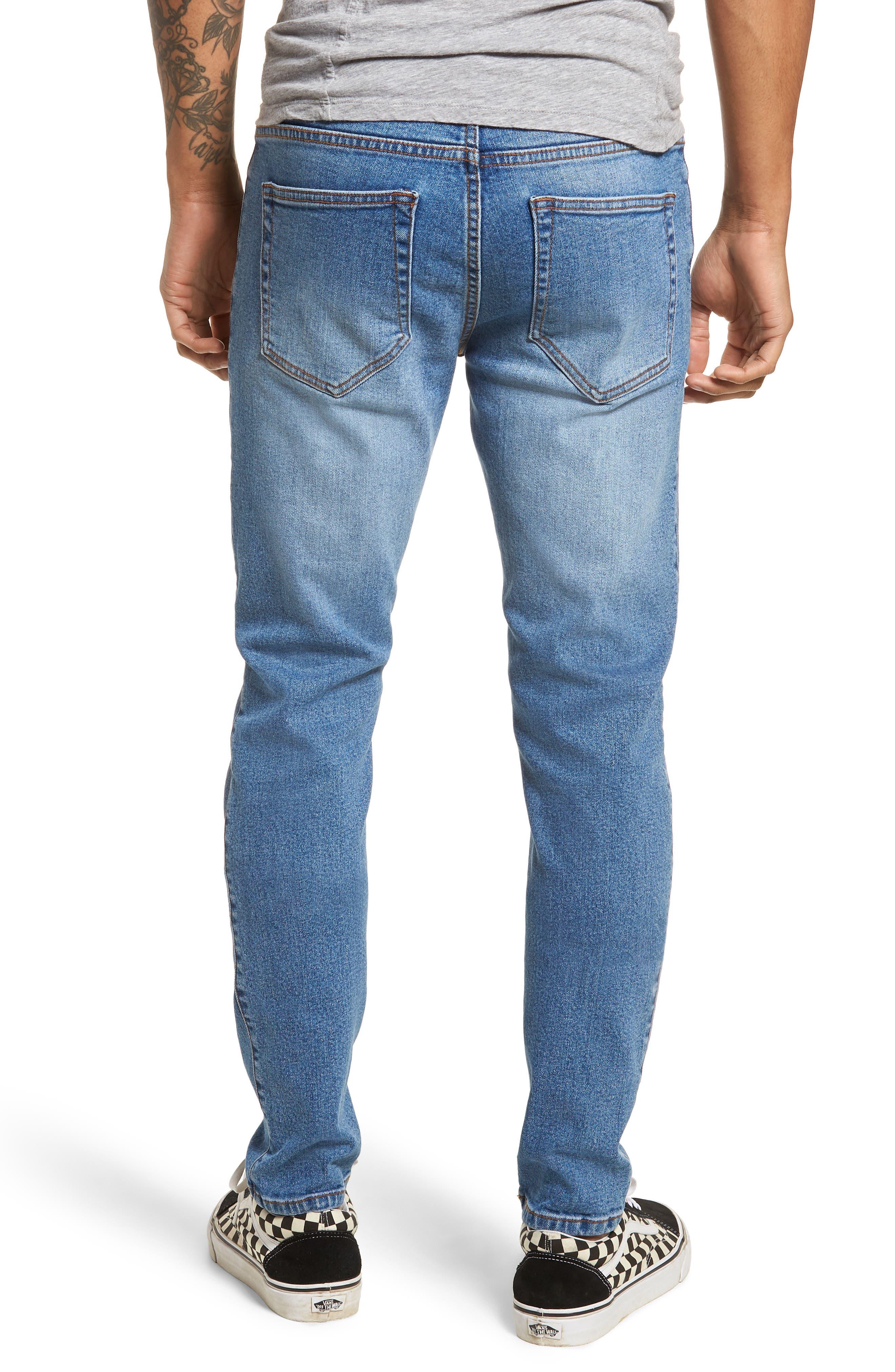 Clark Slim Straight Leg Jeans,                             Alternate thumbnail 2, color,                             Shaded Mid Blue