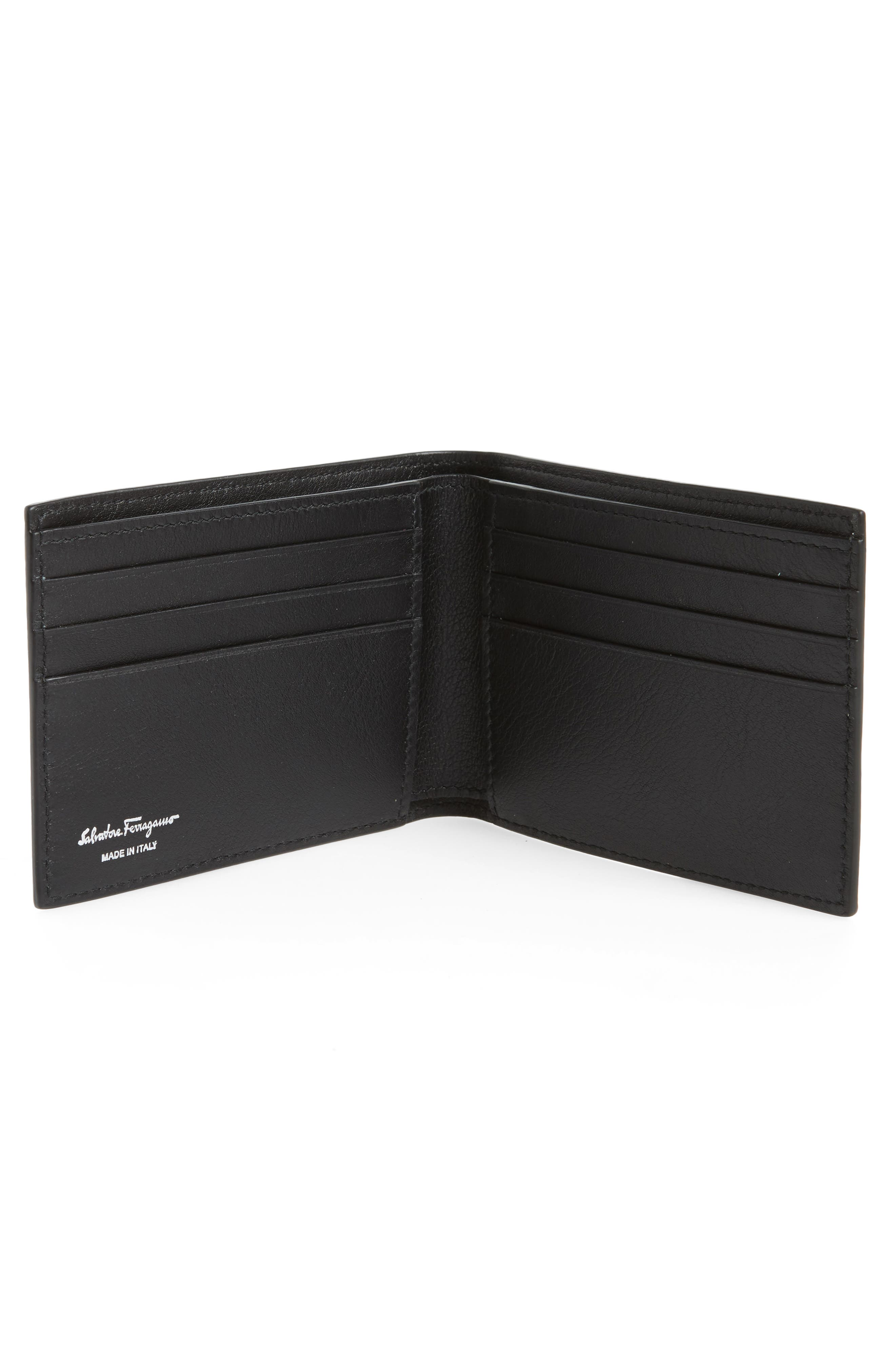 Leather Wallet,                             Alternate thumbnail 2, color,                             Sepia