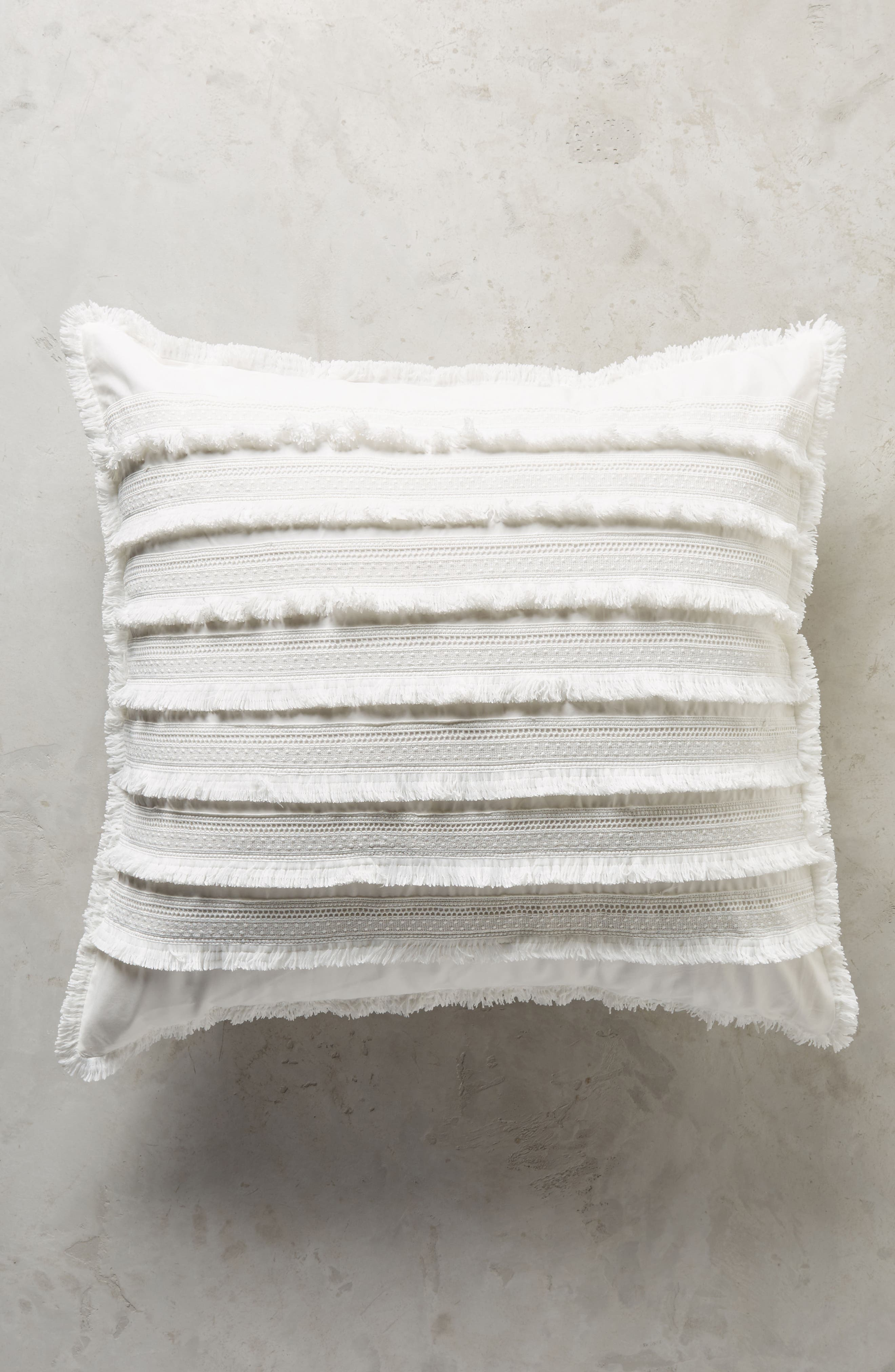 Fringe Euro Sham,                         Main,                         color, White