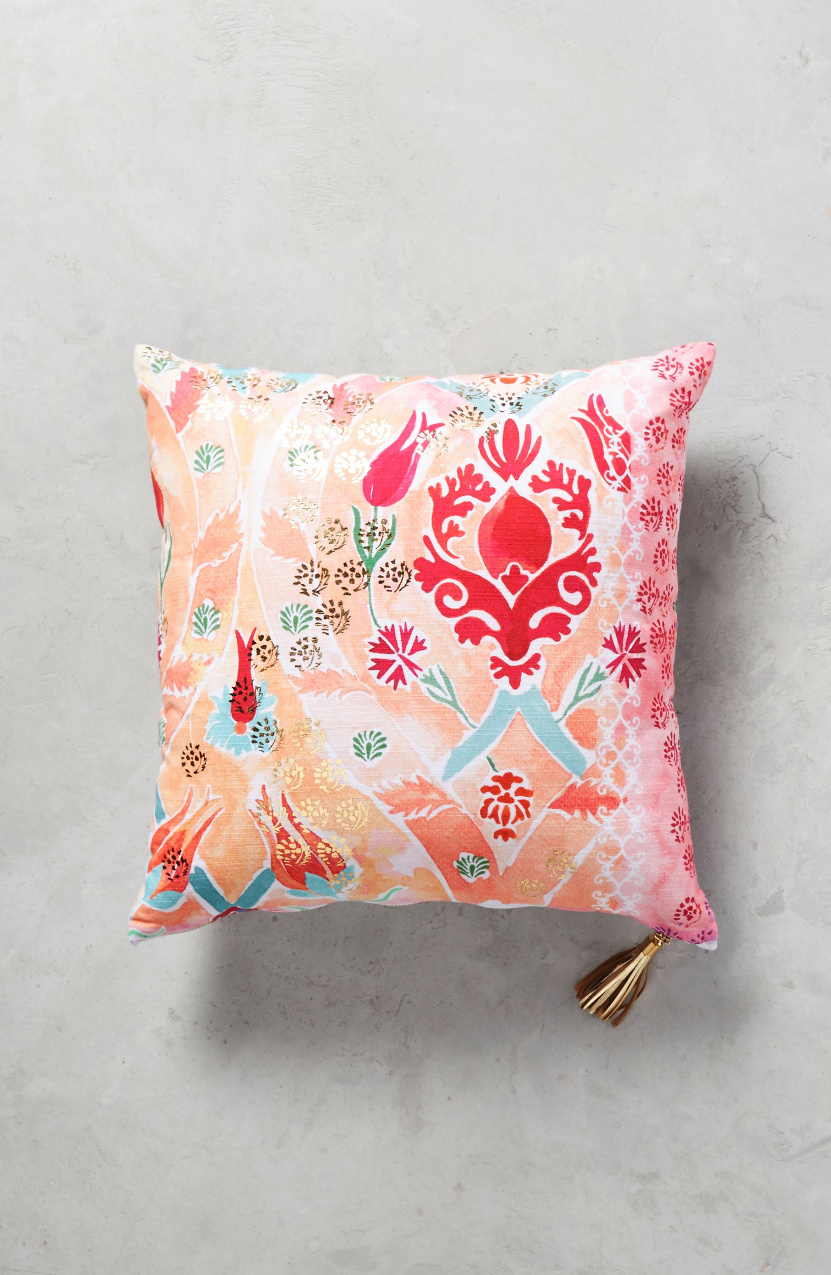 Tali Accent Pillow,                         Main,                         color, Peach