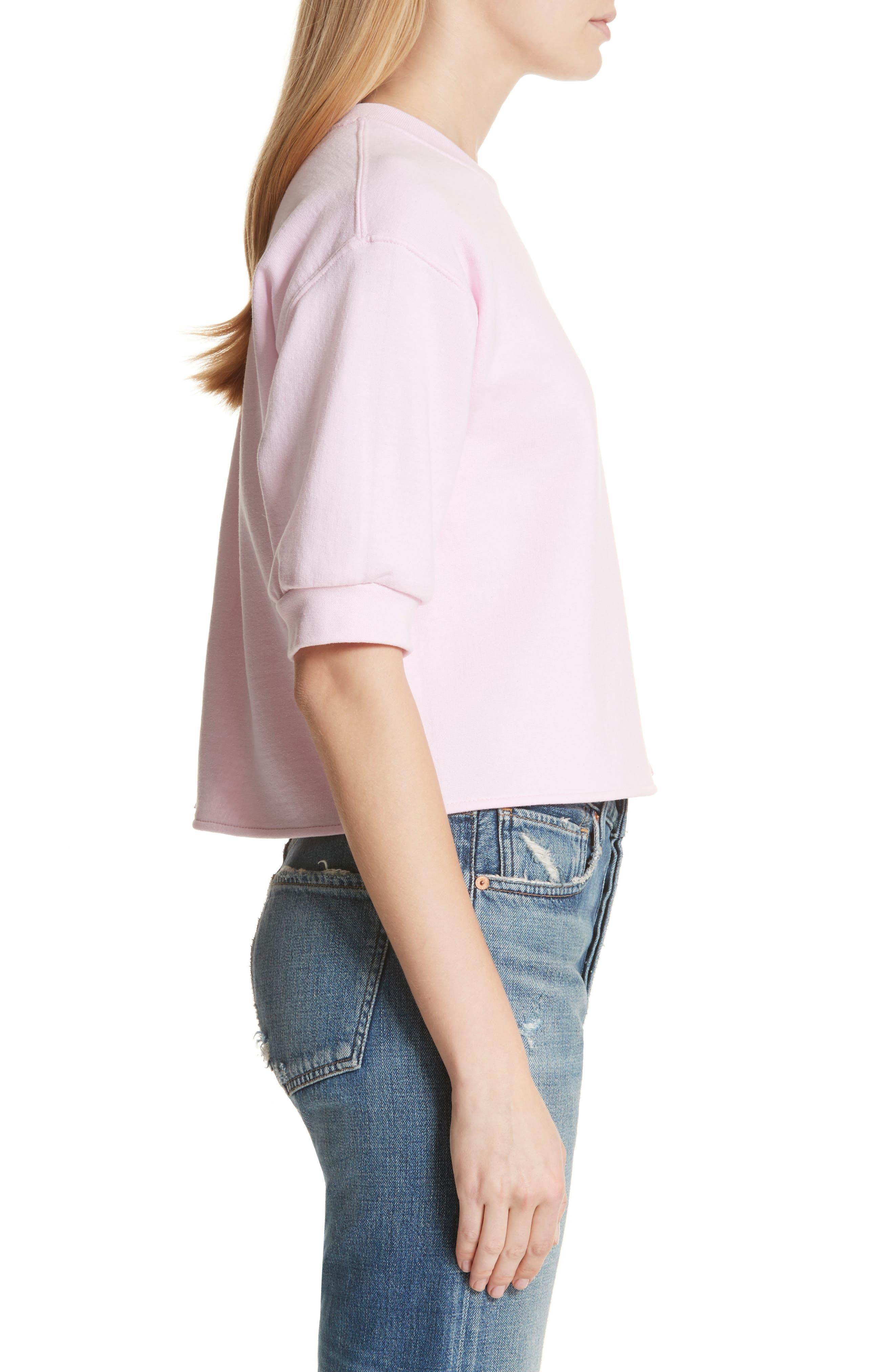 Alternate Image 3  - Harvey Faircloth Ruffle Detail Crop Sweatshirt