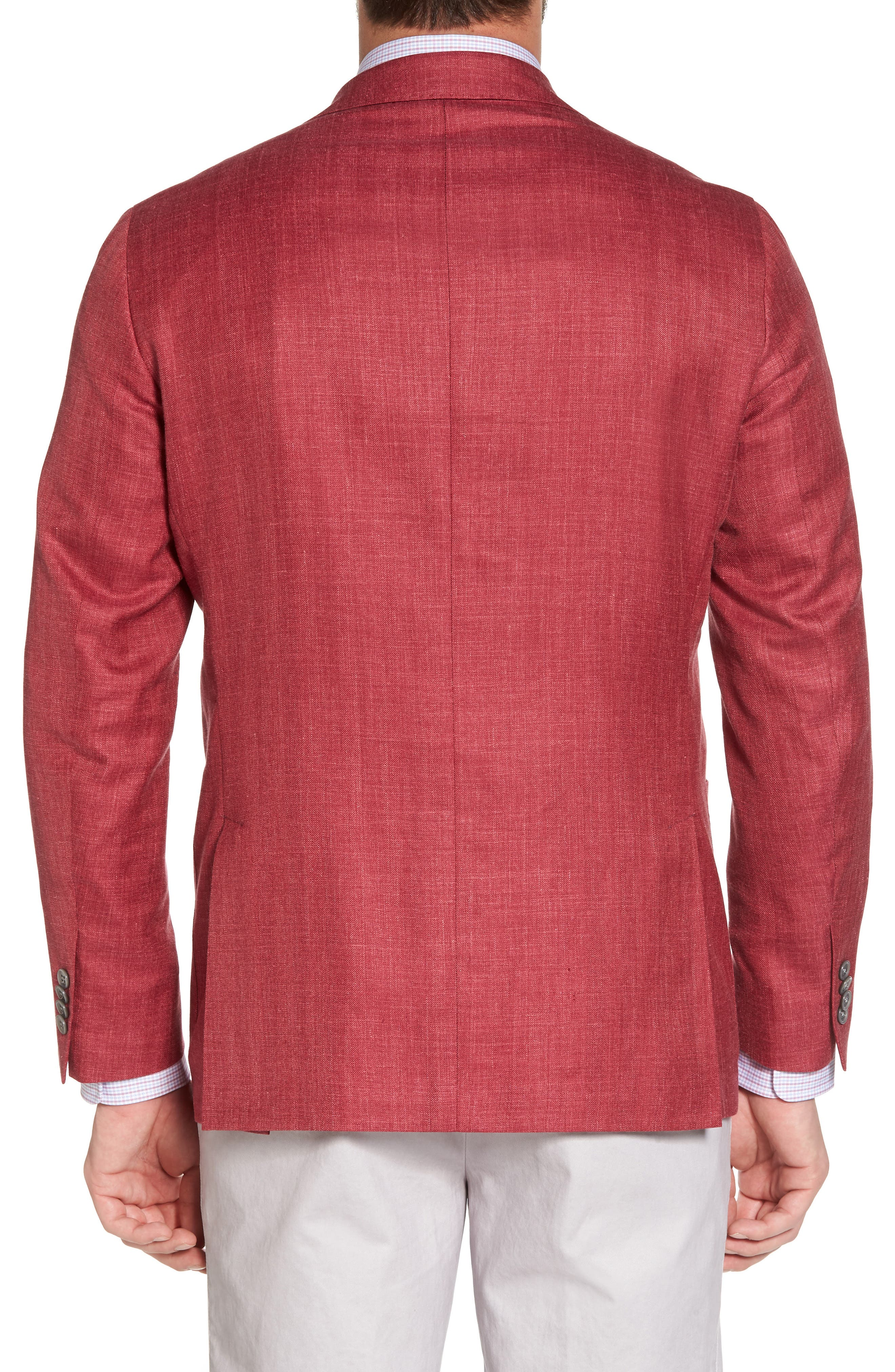 Aiden Classic Fit Wool Blend Blazer,                             Alternate thumbnail 2, color,                             Red