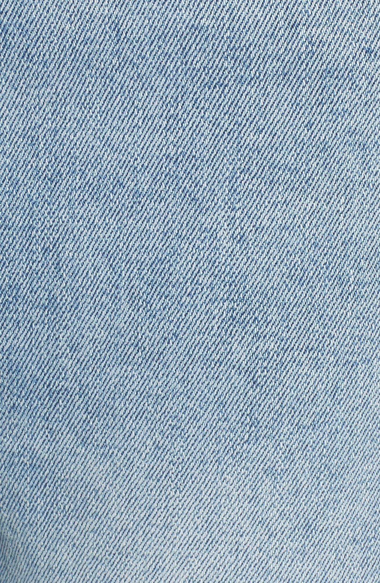 Bella Vintage Crop Slim Jeans,                             Alternate thumbnail 6, color,                             Super Bleach