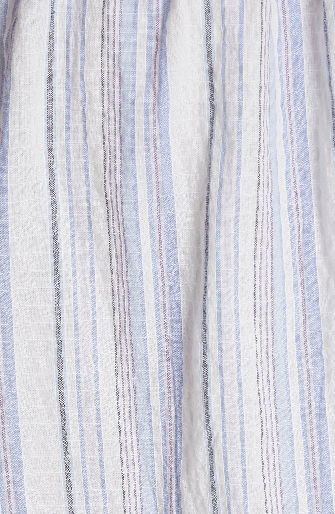 Leila Stripe Midi Dress,                             Alternate thumbnail 5, color,                             Iris Combo