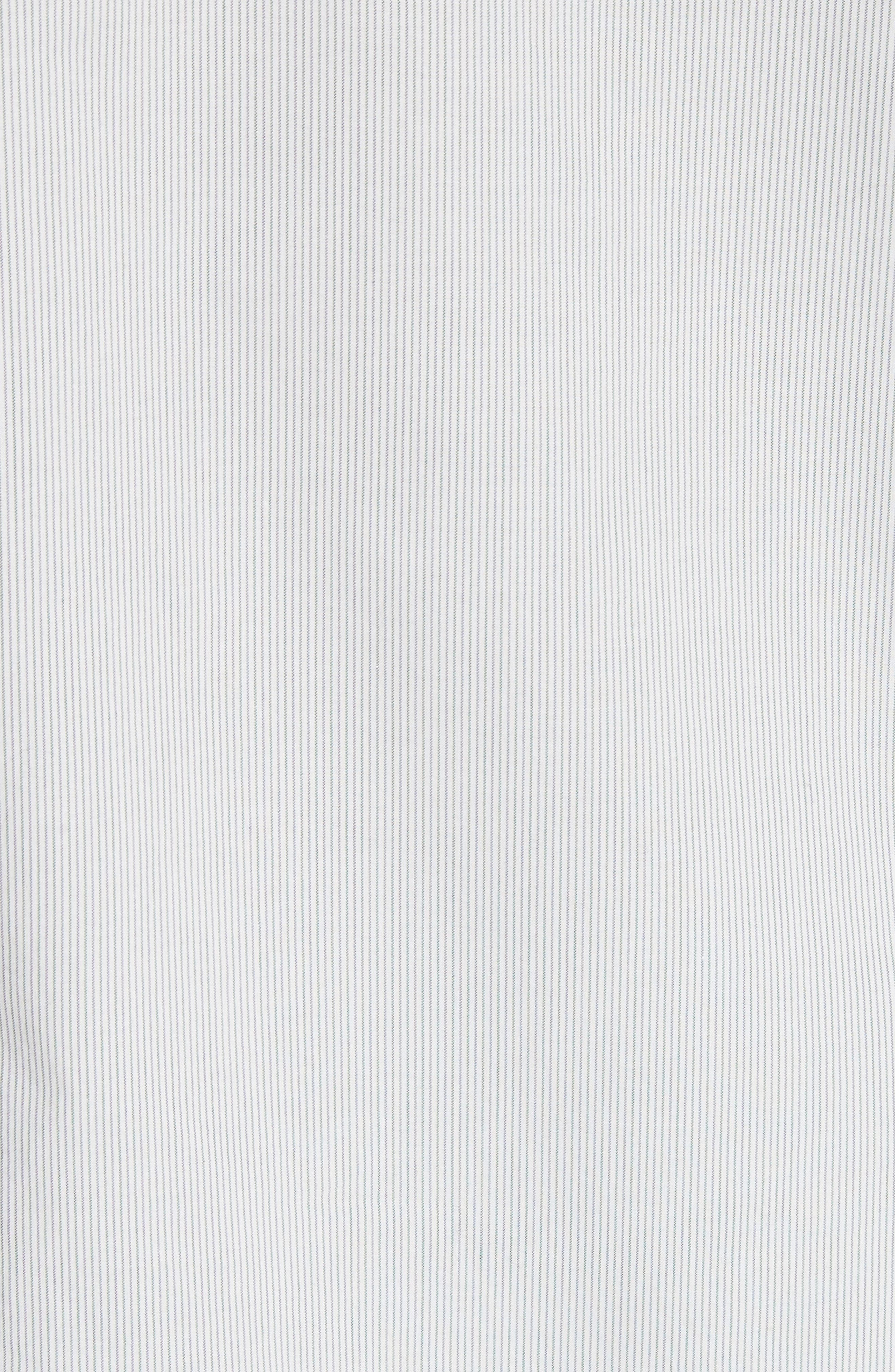 Ruffle Stripe Cotton Top,                             Alternate thumbnail 5, color,                             Milk Combo