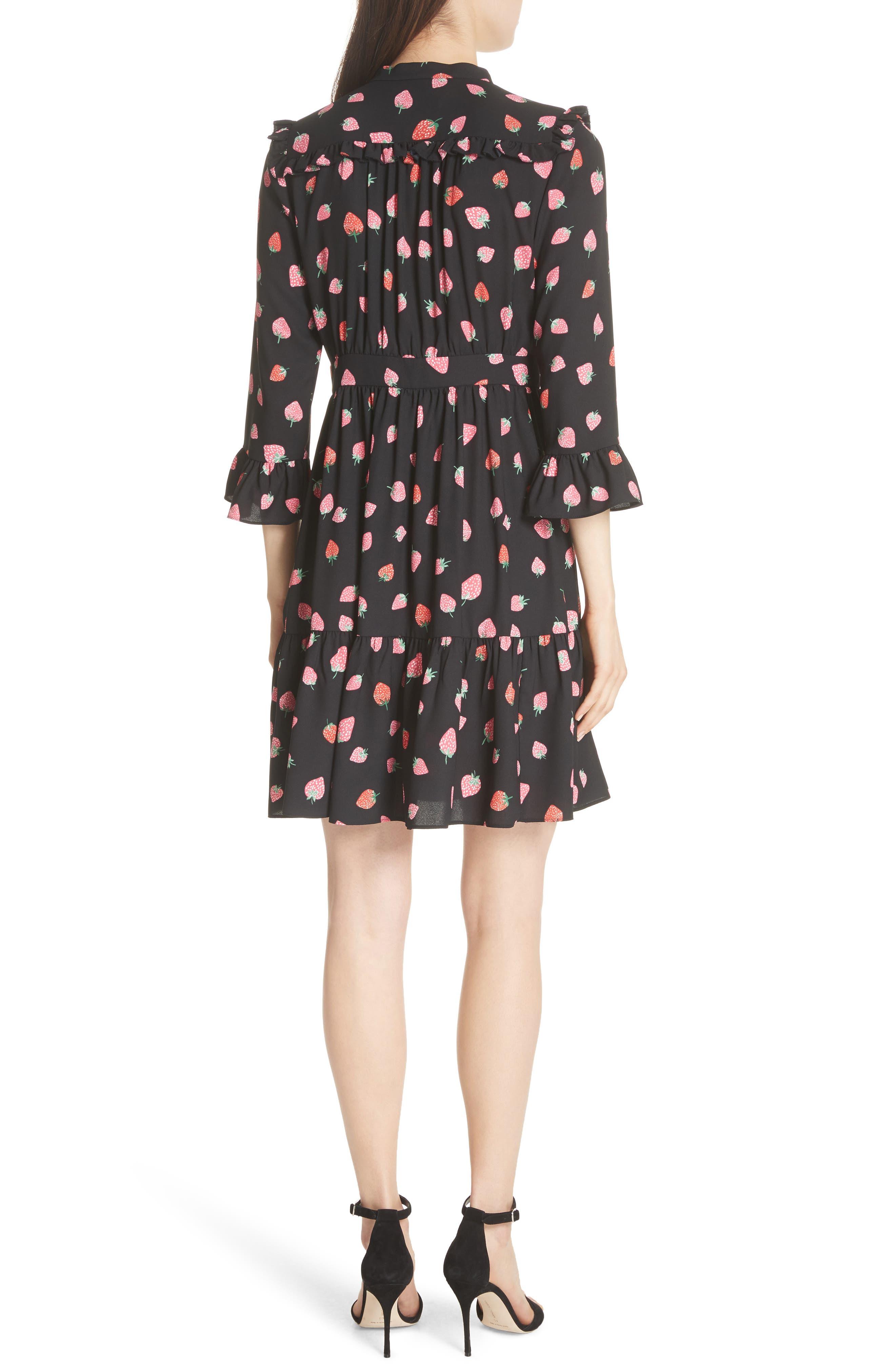 tossed berry shirtdress,                             Alternate thumbnail 2, color,                             Black