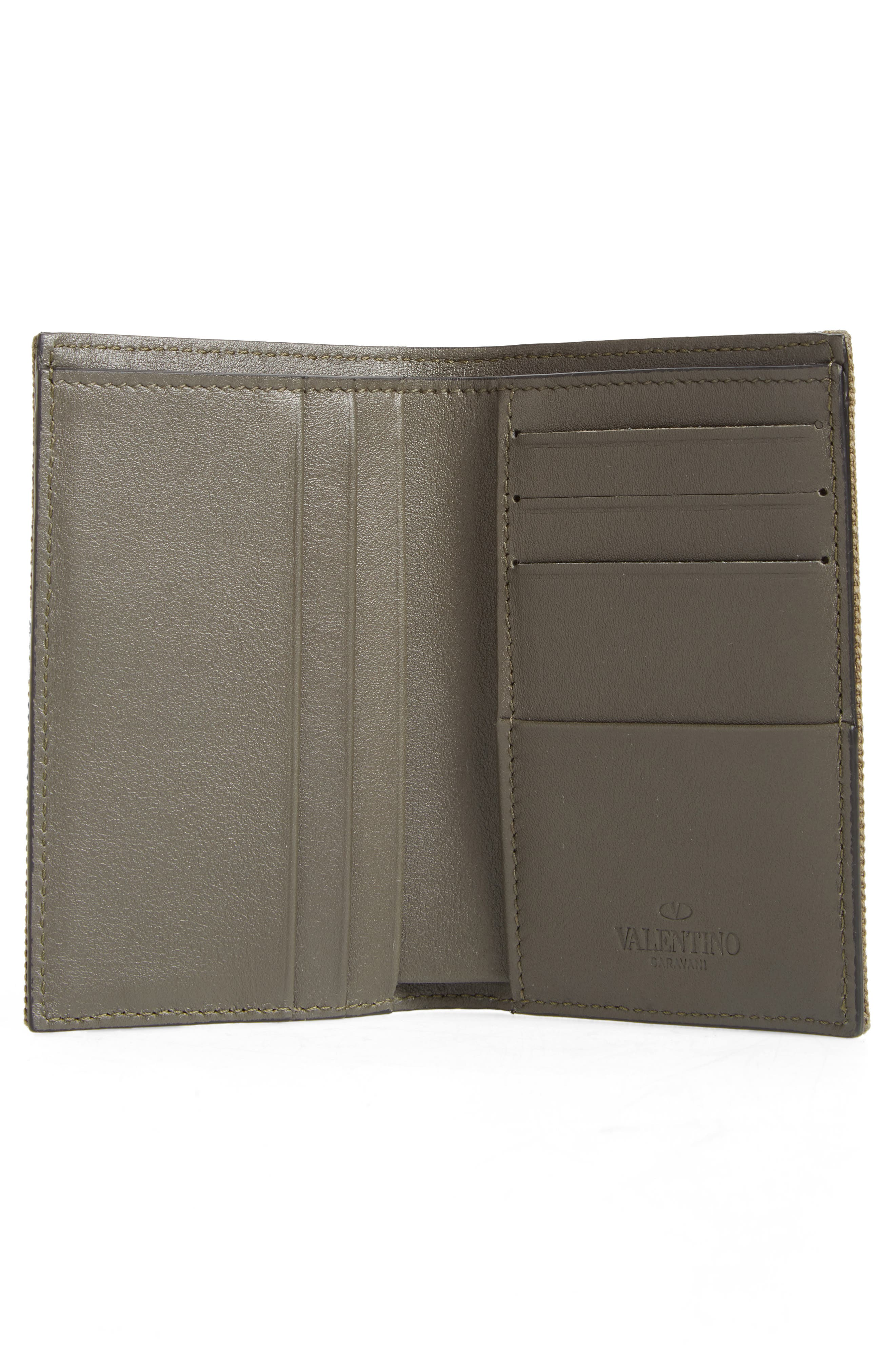 GARAVANI Stud Canvas Wallet,                             Alternate thumbnail 2, color,                             L90 Olive
