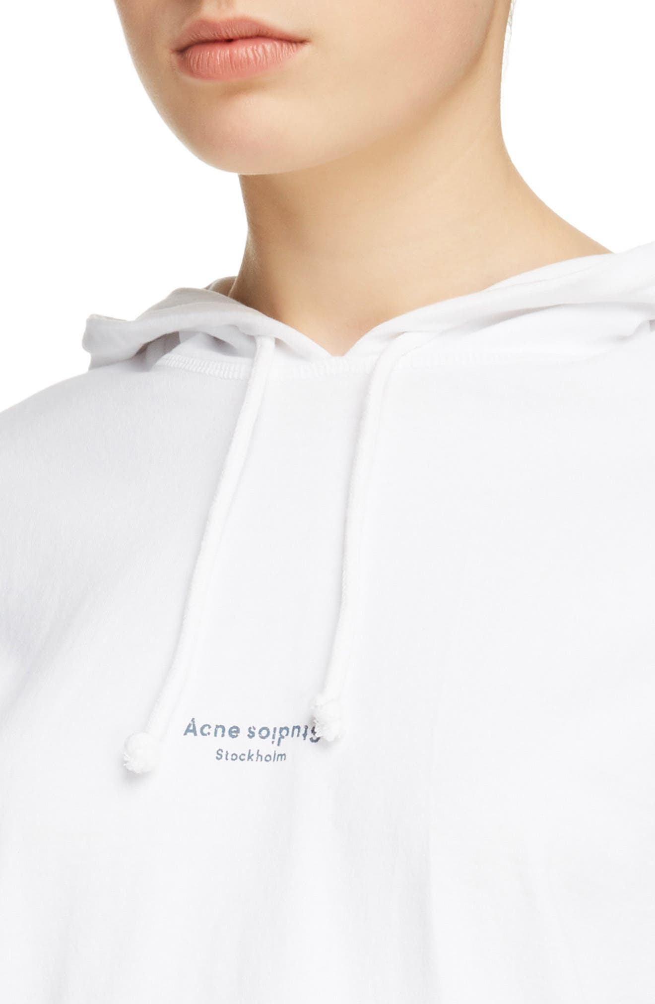 Lilly Drawstring Hoodie,                             Alternate thumbnail 4, color,                             Optic White