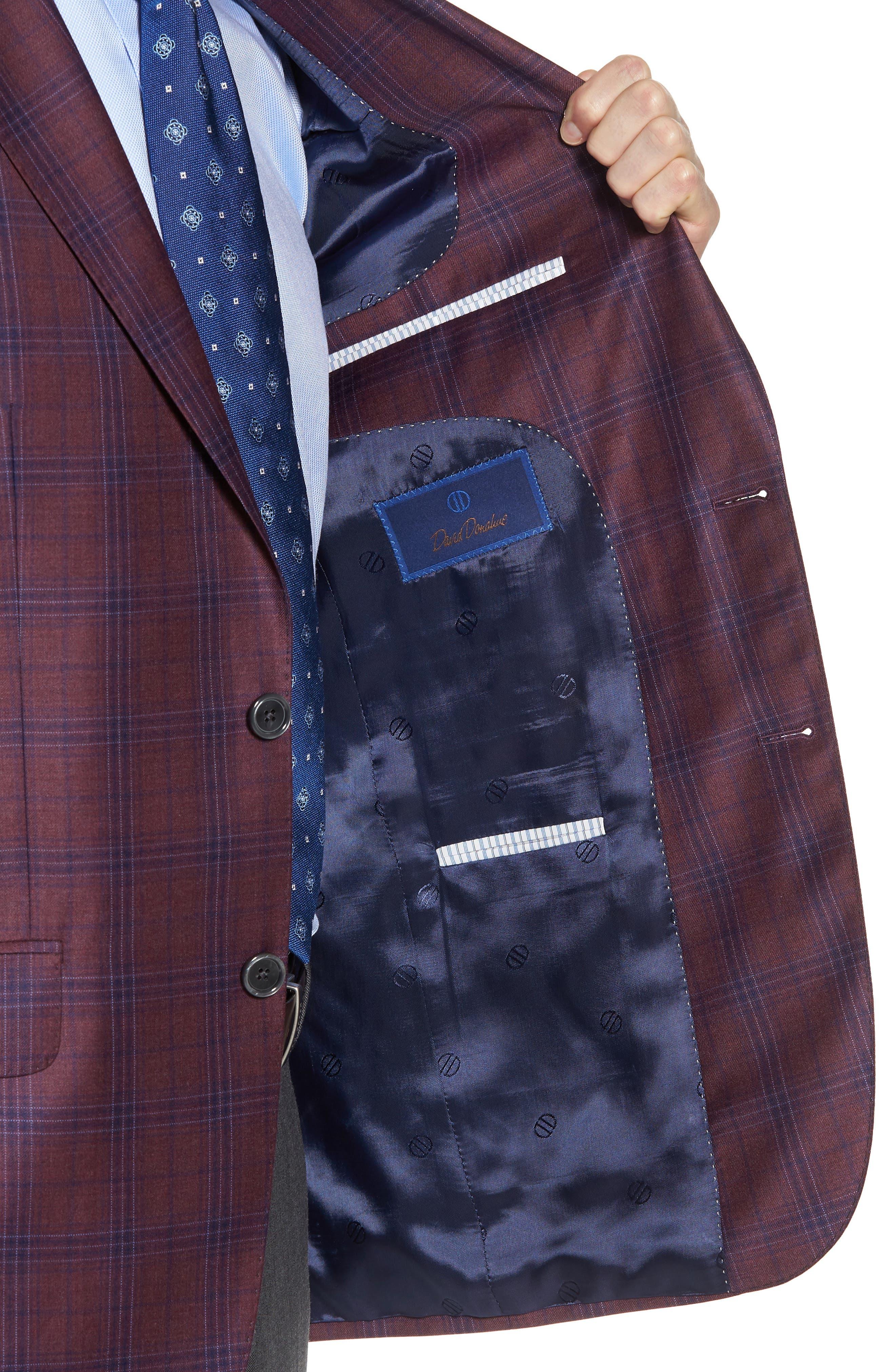 Alternate Image 4  - David Donahue Connor Classic Fit Plaid Wool Sport Coat