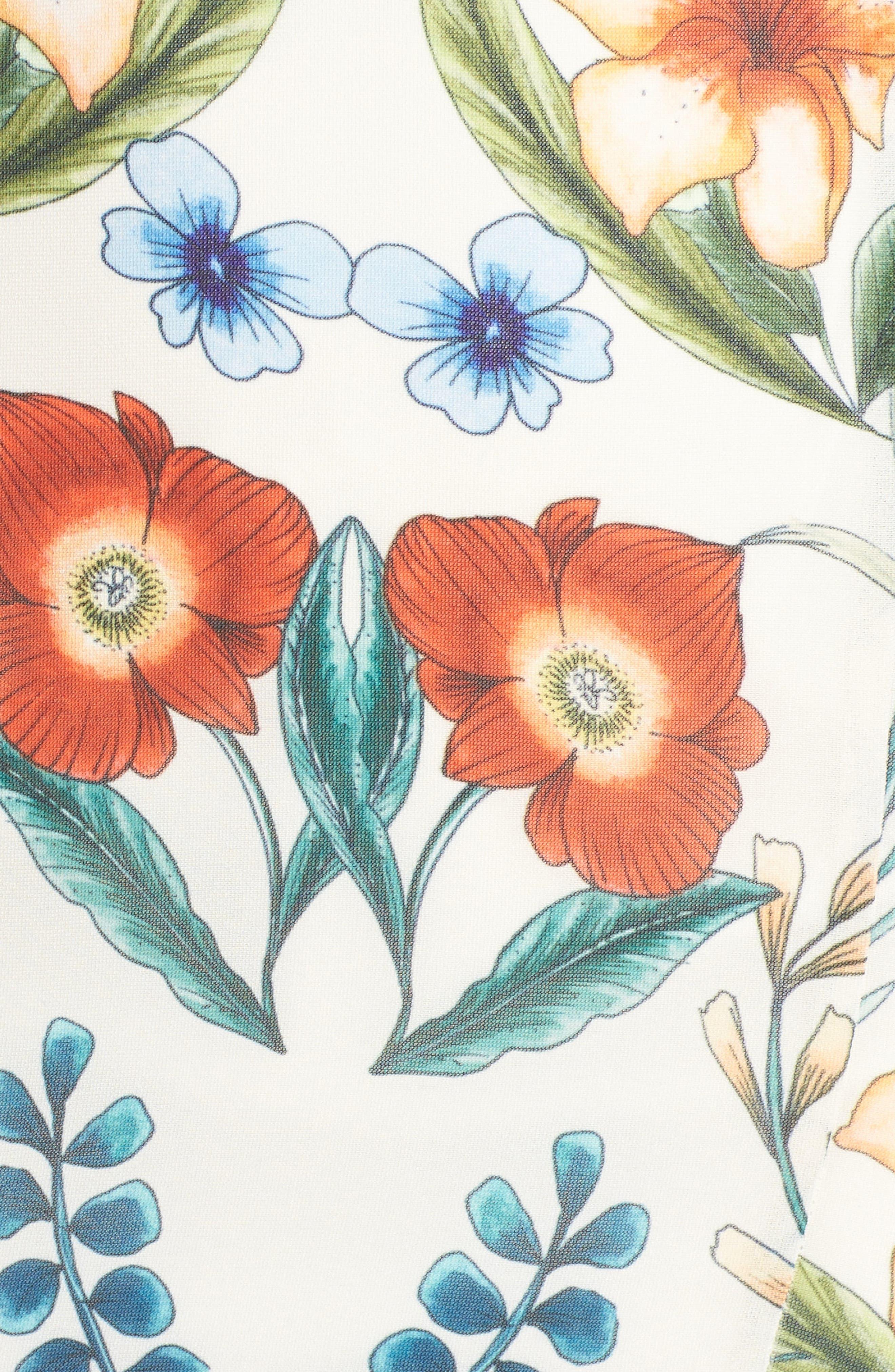 Gardenia Strapless Dress,                             Alternate thumbnail 4, color,                             Print