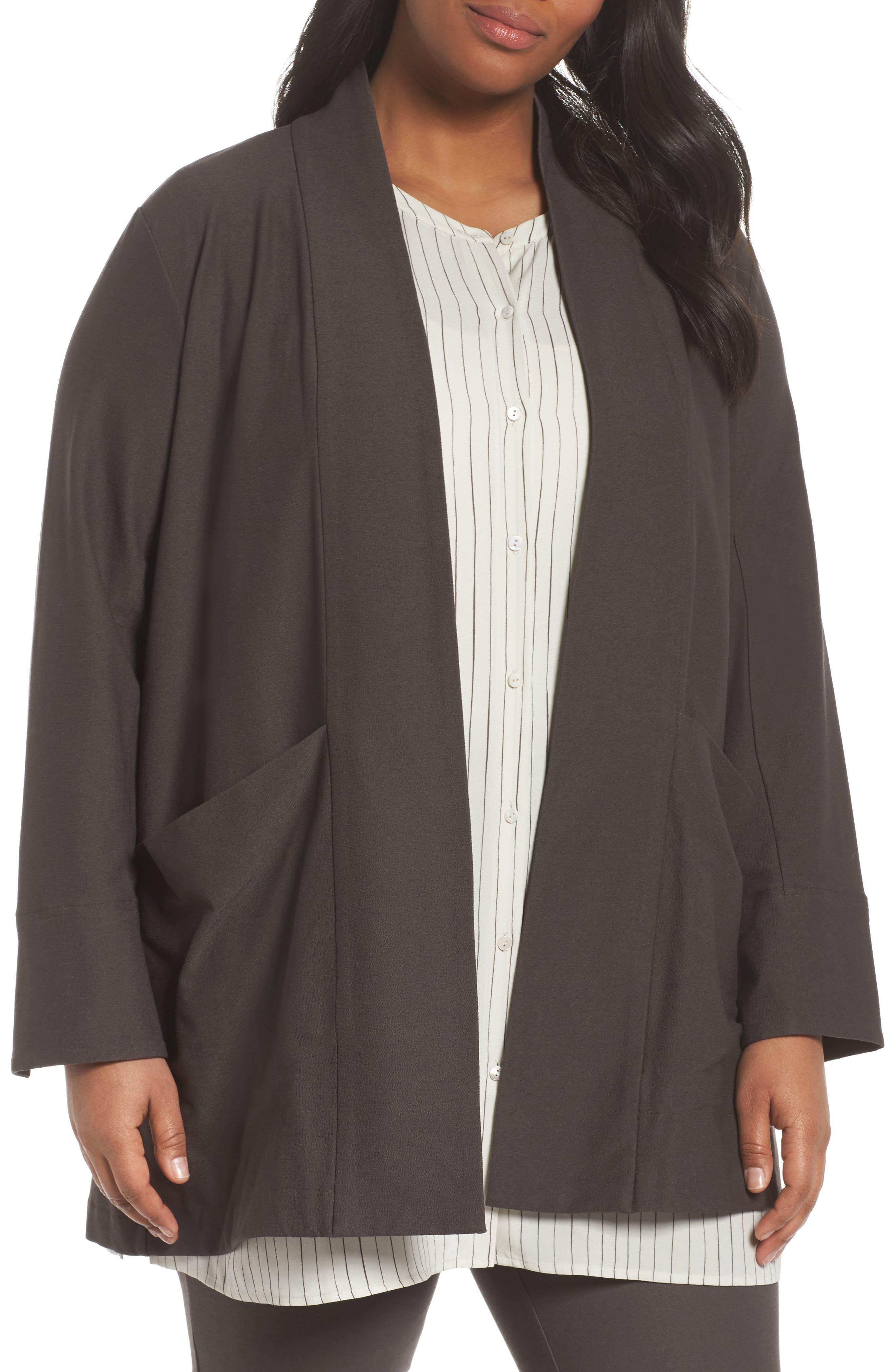 Kimono Long Jacket,                         Main,                         color, Rye