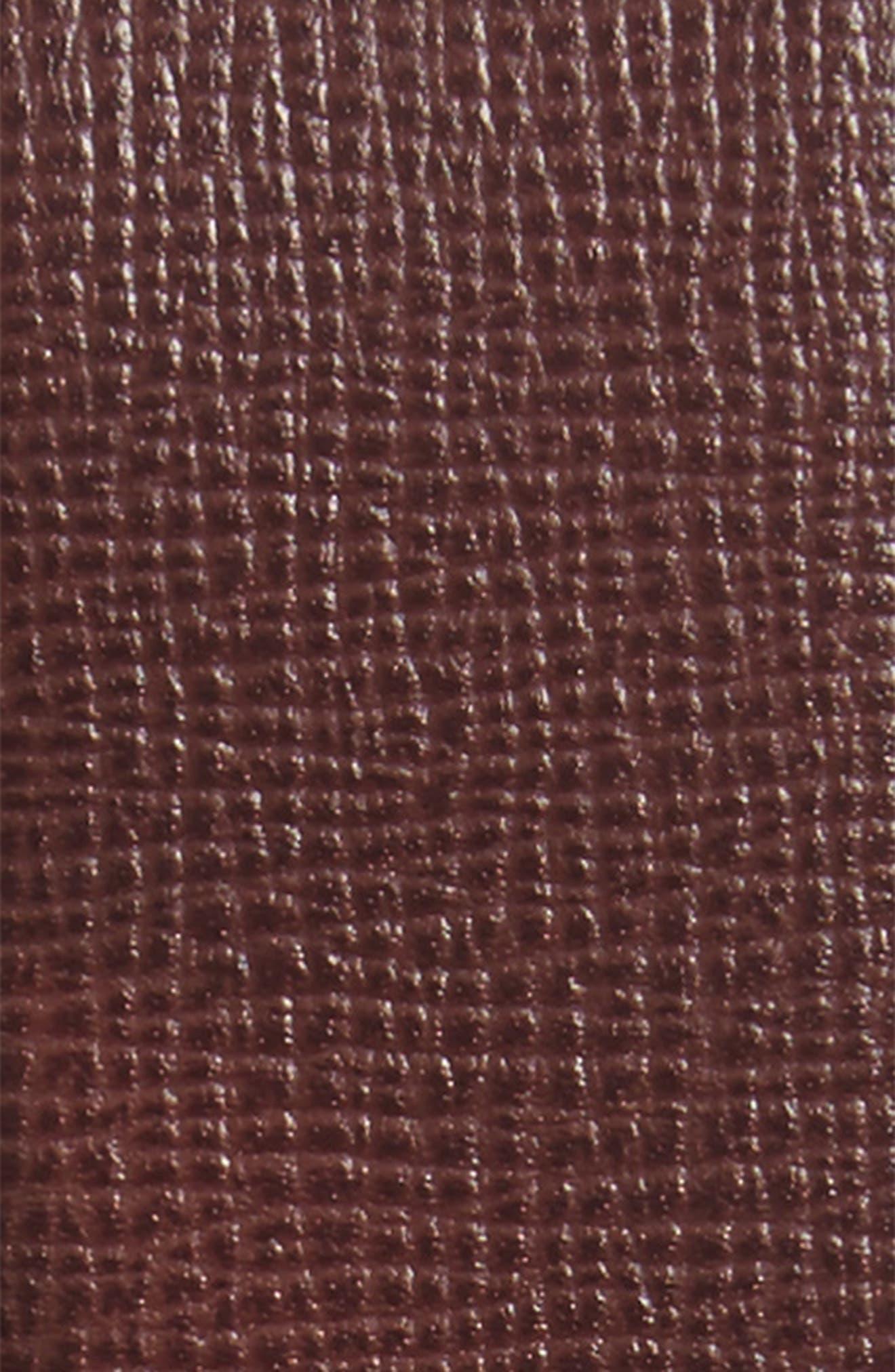 Dean Leather Belt,                             Alternate thumbnail 2, color,                             Burgundy Red