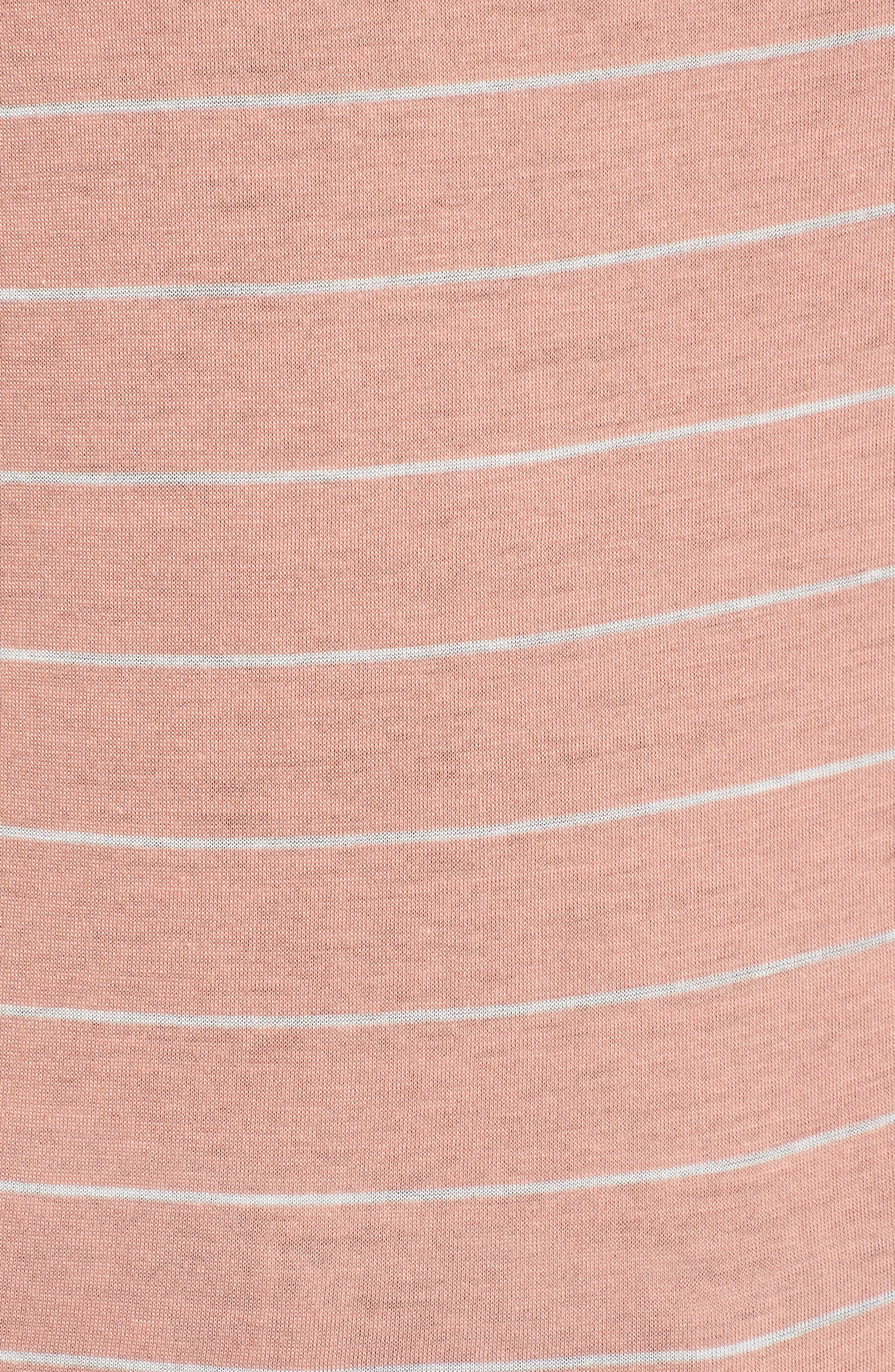 Ruffle Sleeve Tee,                             Alternate thumbnail 5, color,                             Rose-White