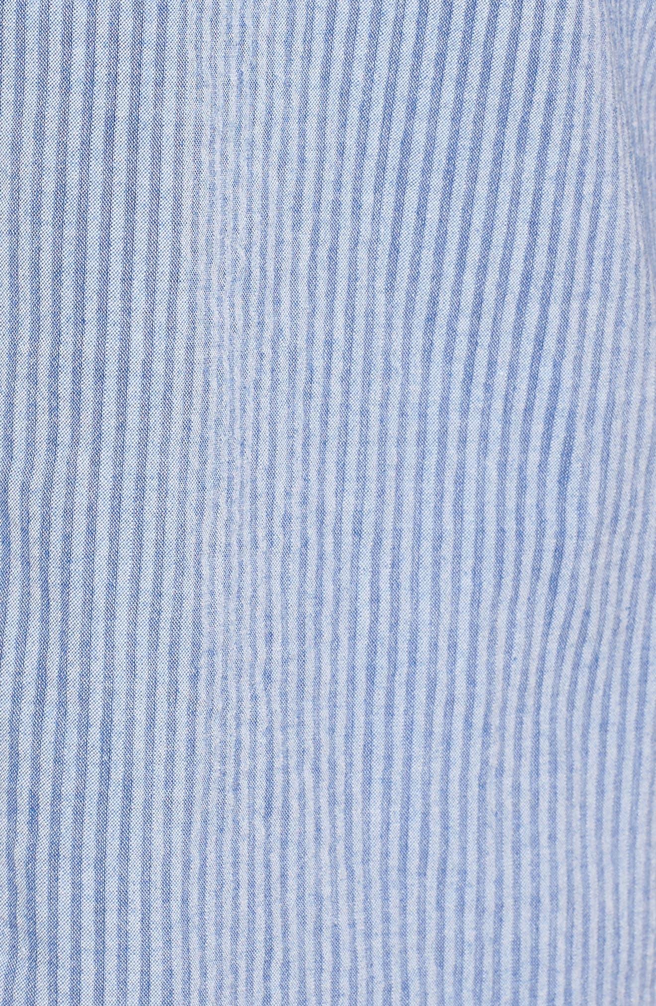 Epiphytes Woven Shirt,                             Alternate thumbnail 5, color,                             Blue