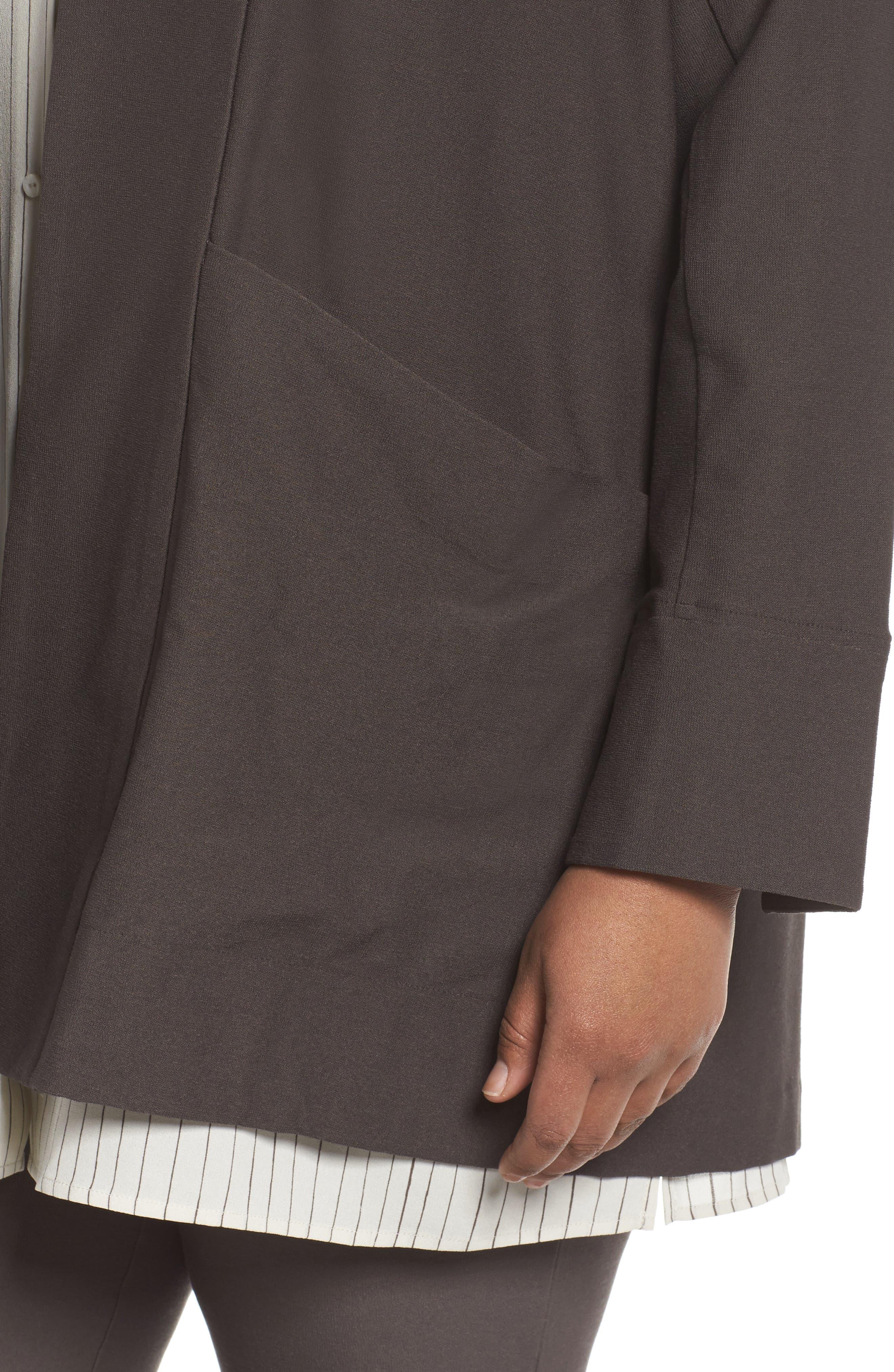 Kimono Long Jacket,                             Alternate thumbnail 4, color,                             Rye