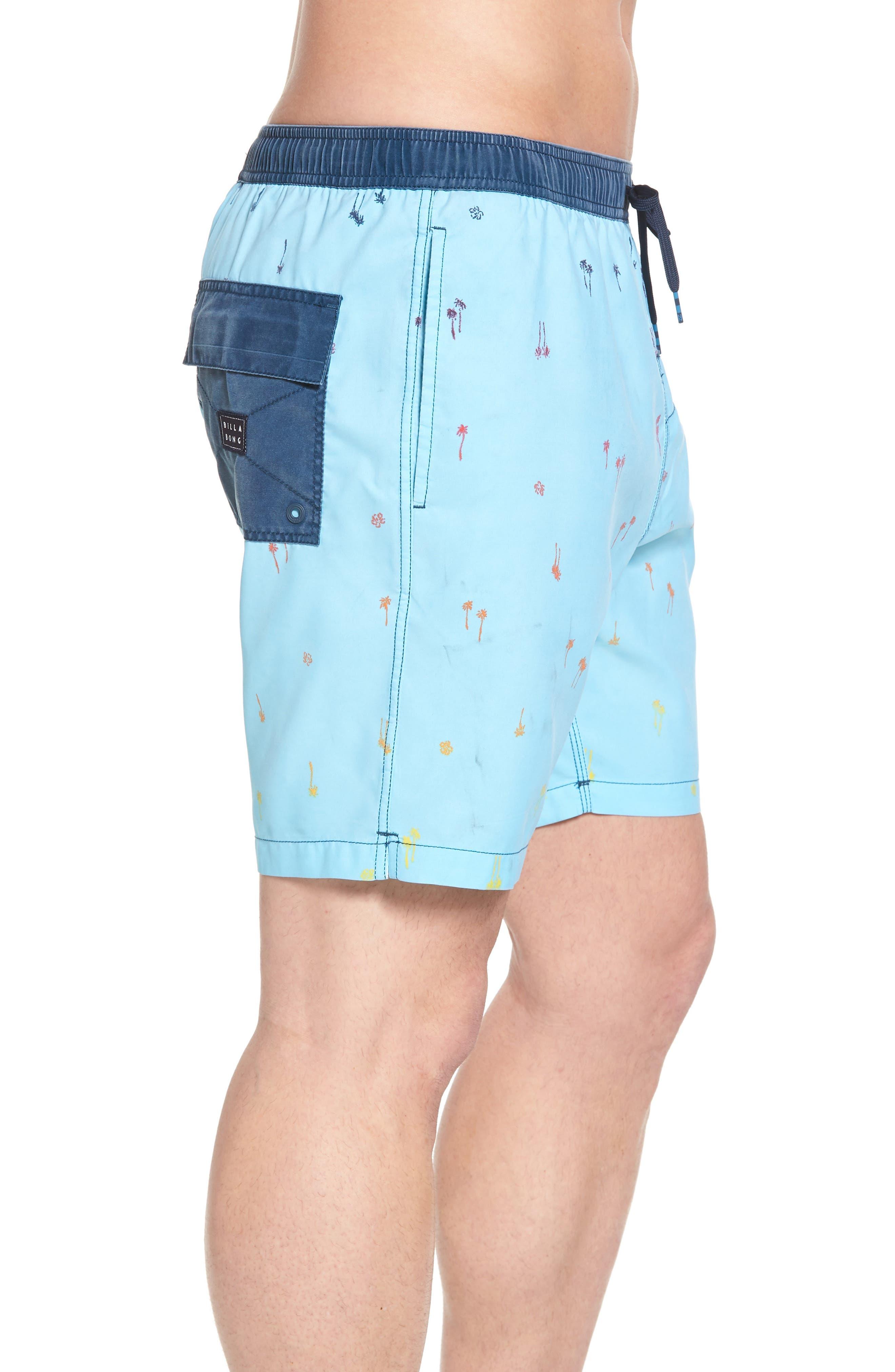 Sundays Layback Board Shorts,                             Alternate thumbnail 3, color,                             Light Blue