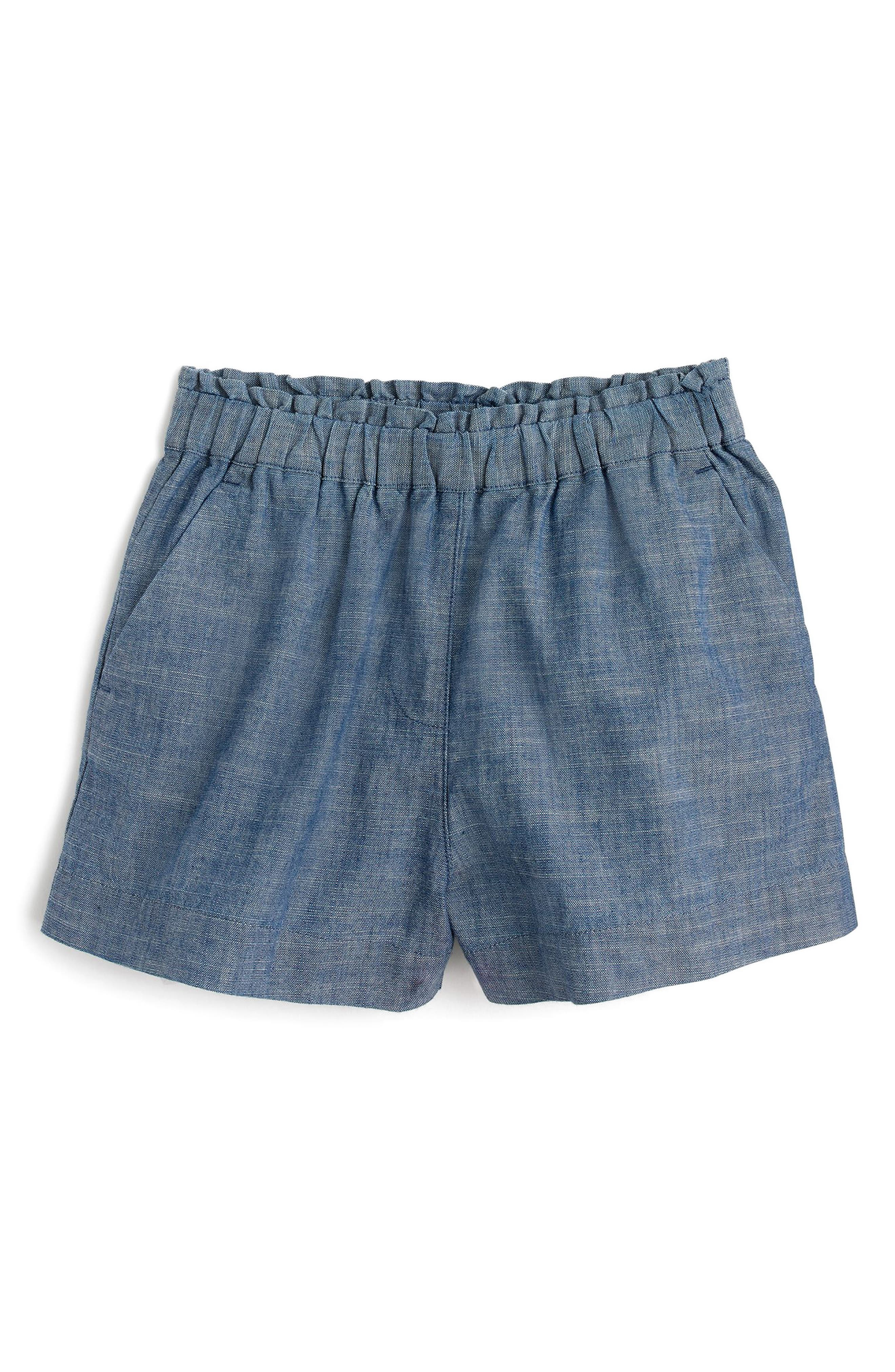 crewcuts by J.Crew Trish Chambray Shorts (Toddler Girls, Little Girls & Big Girls)