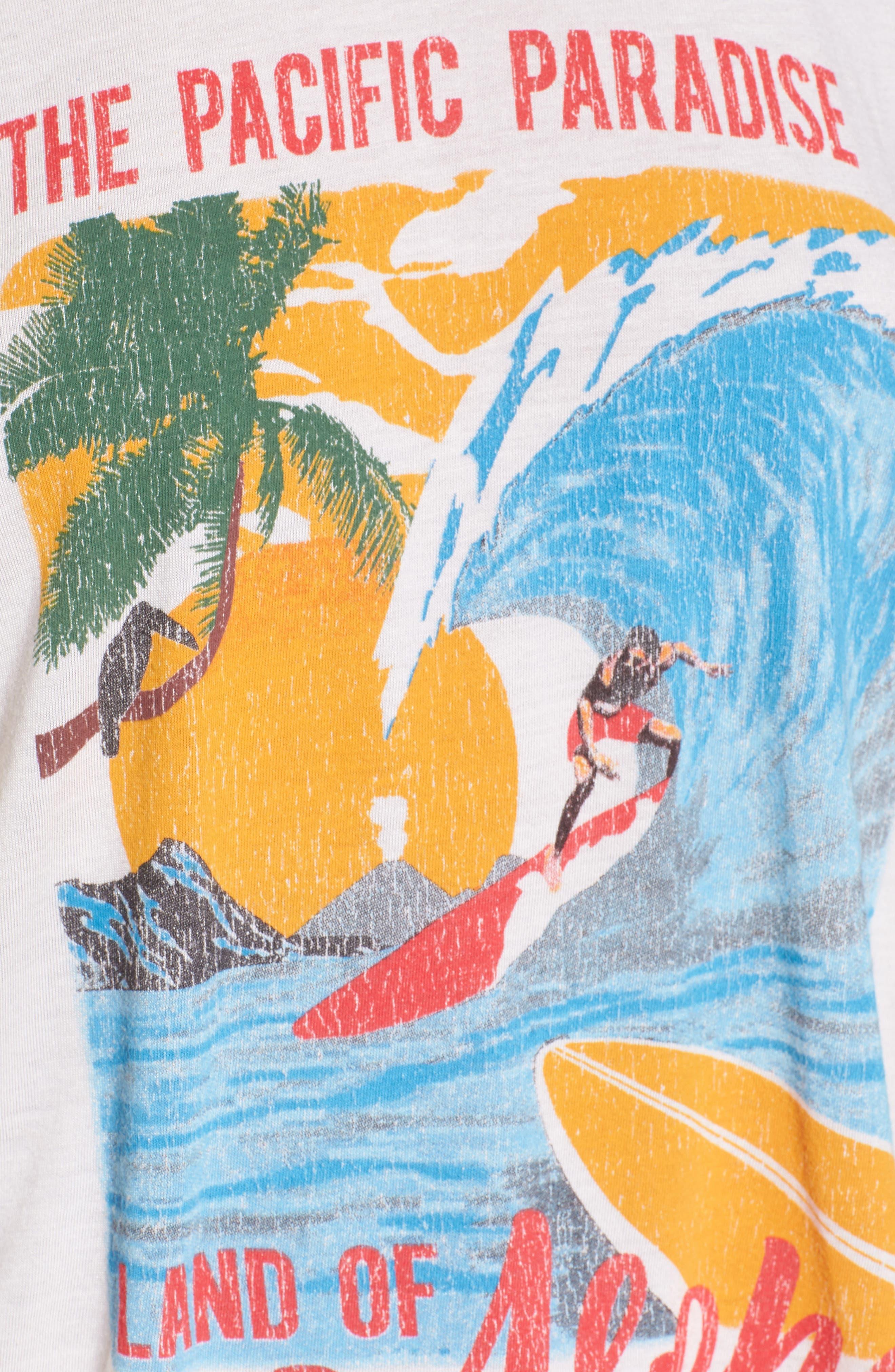 Travis Tee,                             Alternate thumbnail 6, color,                             Aloha Postcard