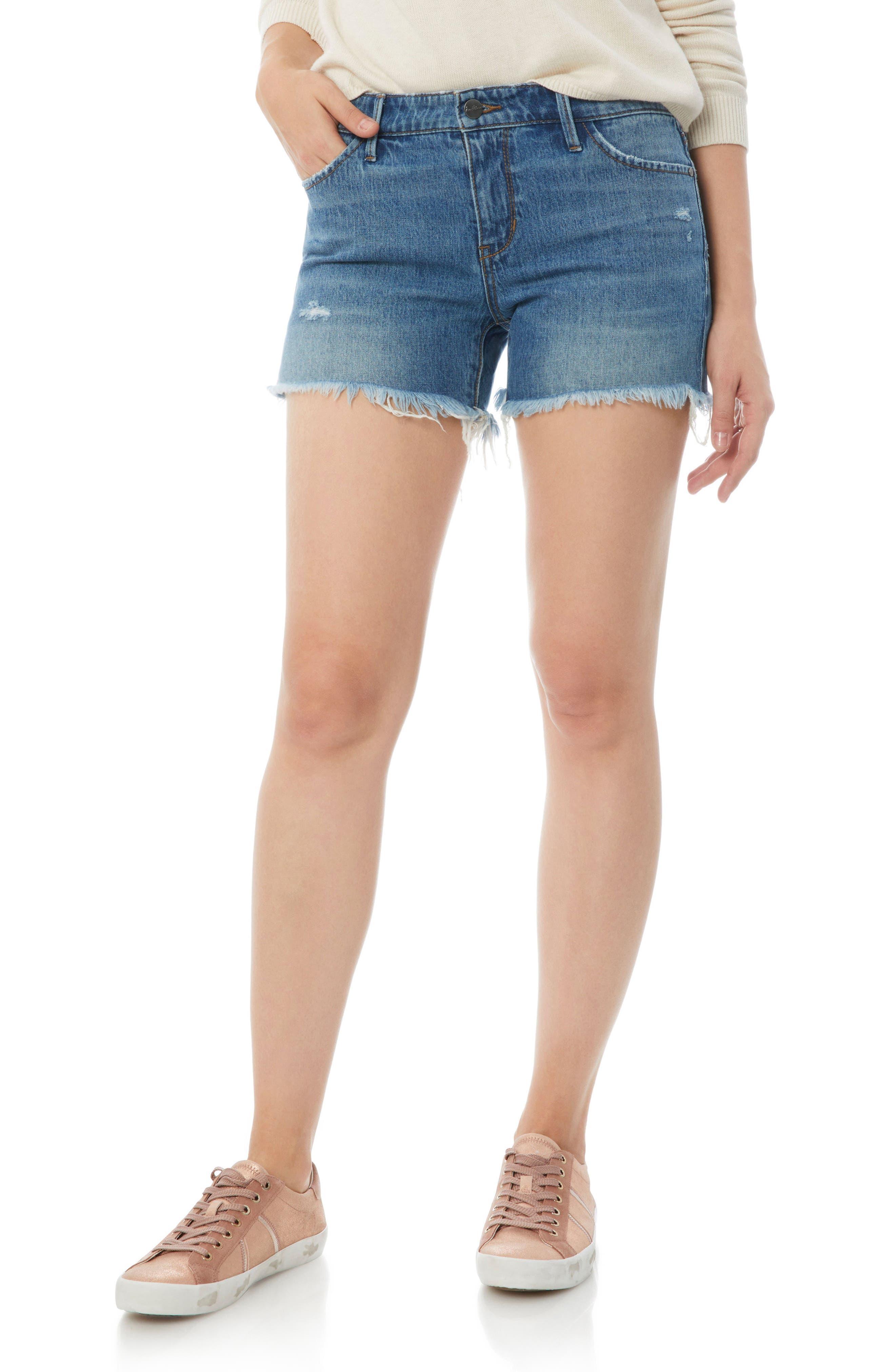 Distressed Denim Cutoff Shorts,                             Main thumbnail 1, color,                             Dannie