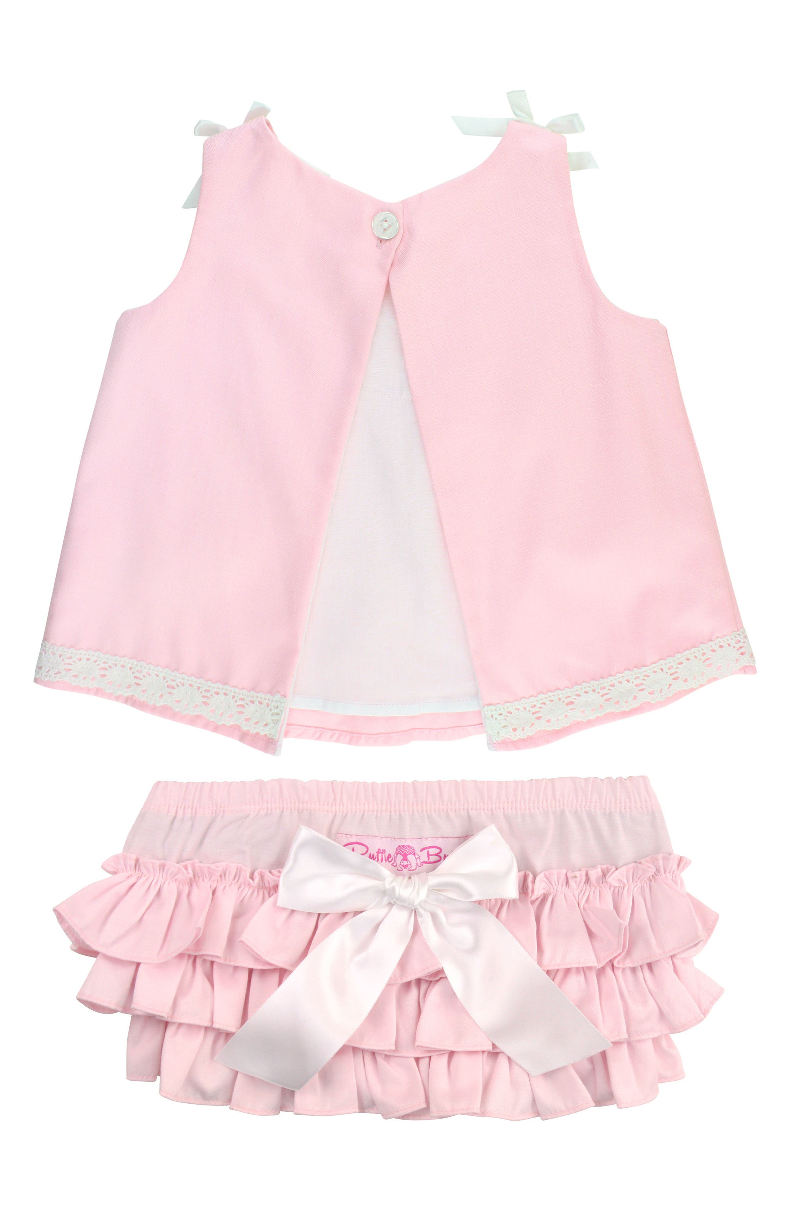 Chambray Swing Top & Ruffle Bloomers Set,                             Alternate thumbnail 2, color,                             Pink