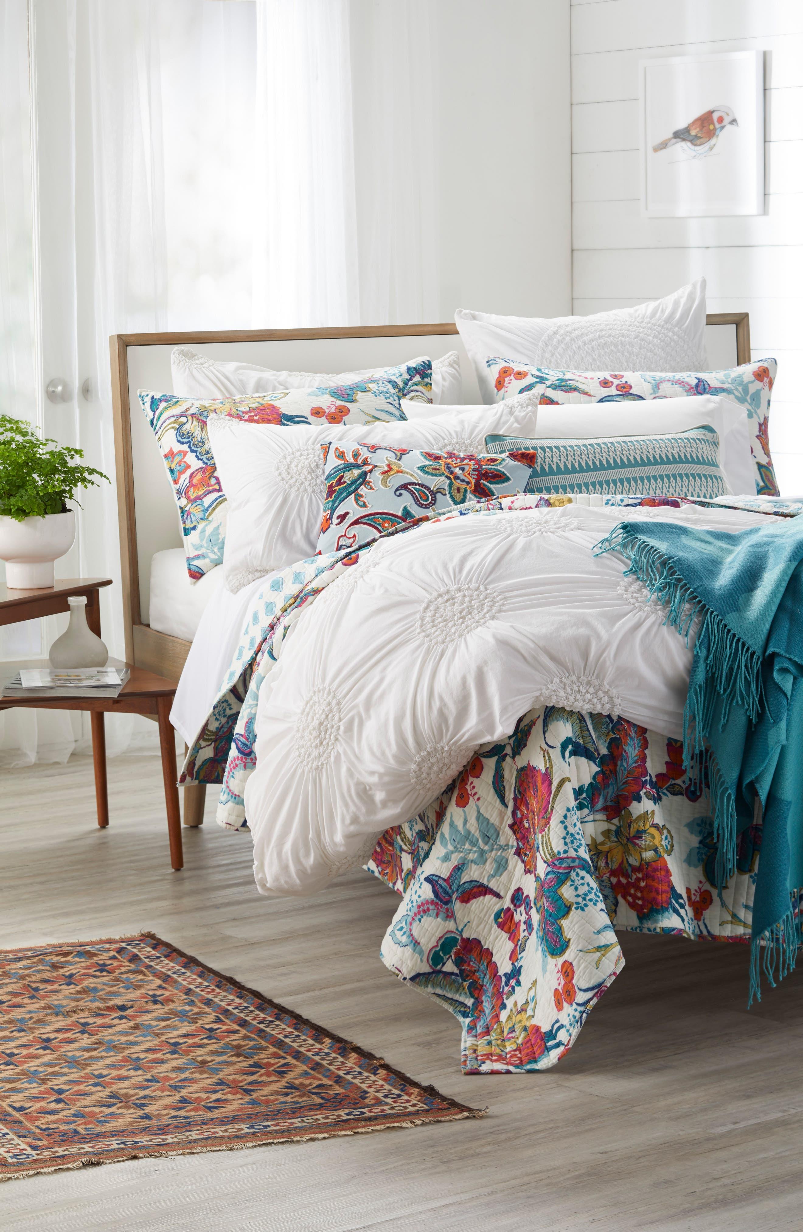 Carla Accent Pillow,                             Alternate thumbnail 4, color,                             Blue