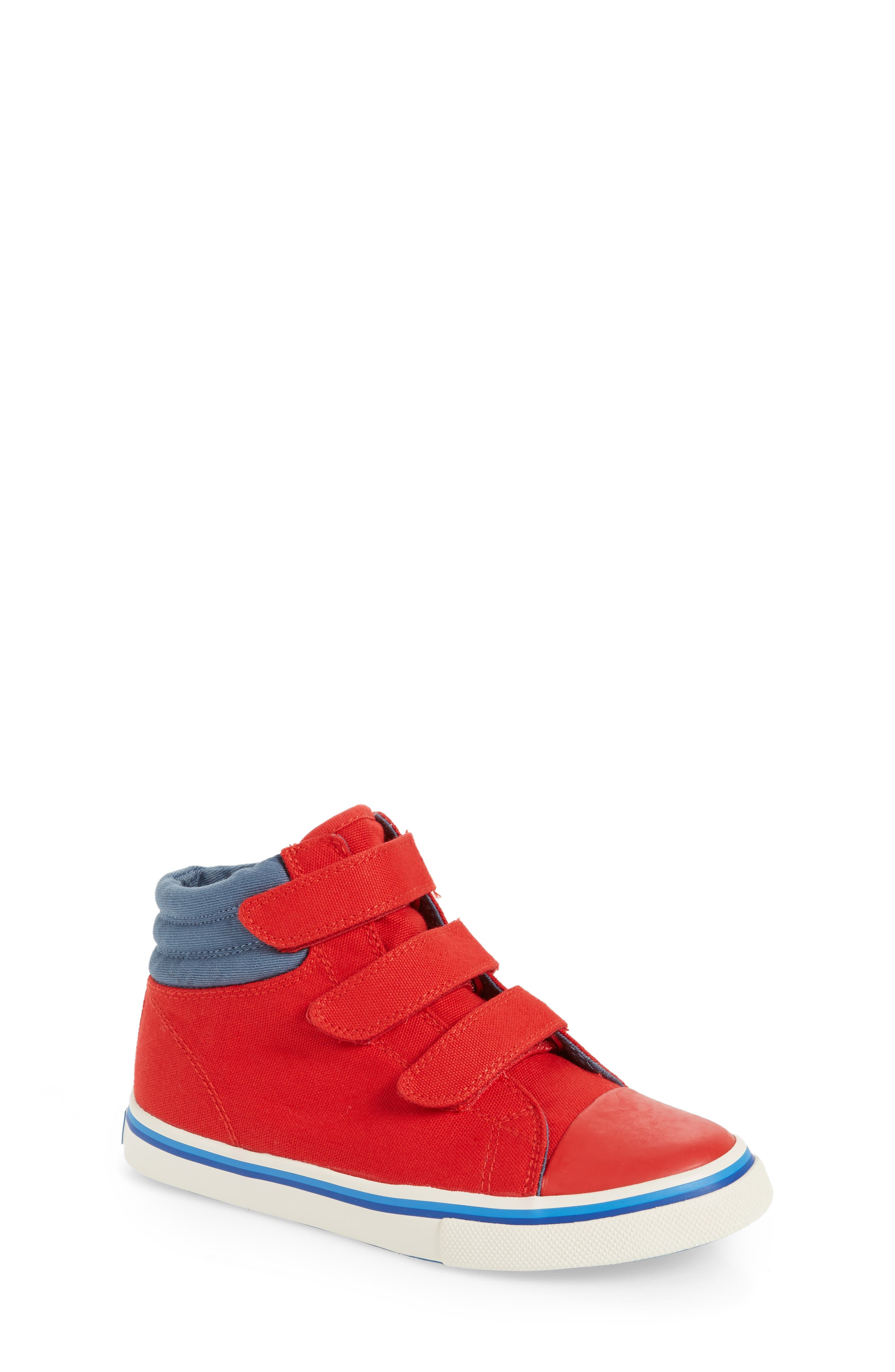 High Top Sneaker,                             Main thumbnail 1, color,                             Salsa Red