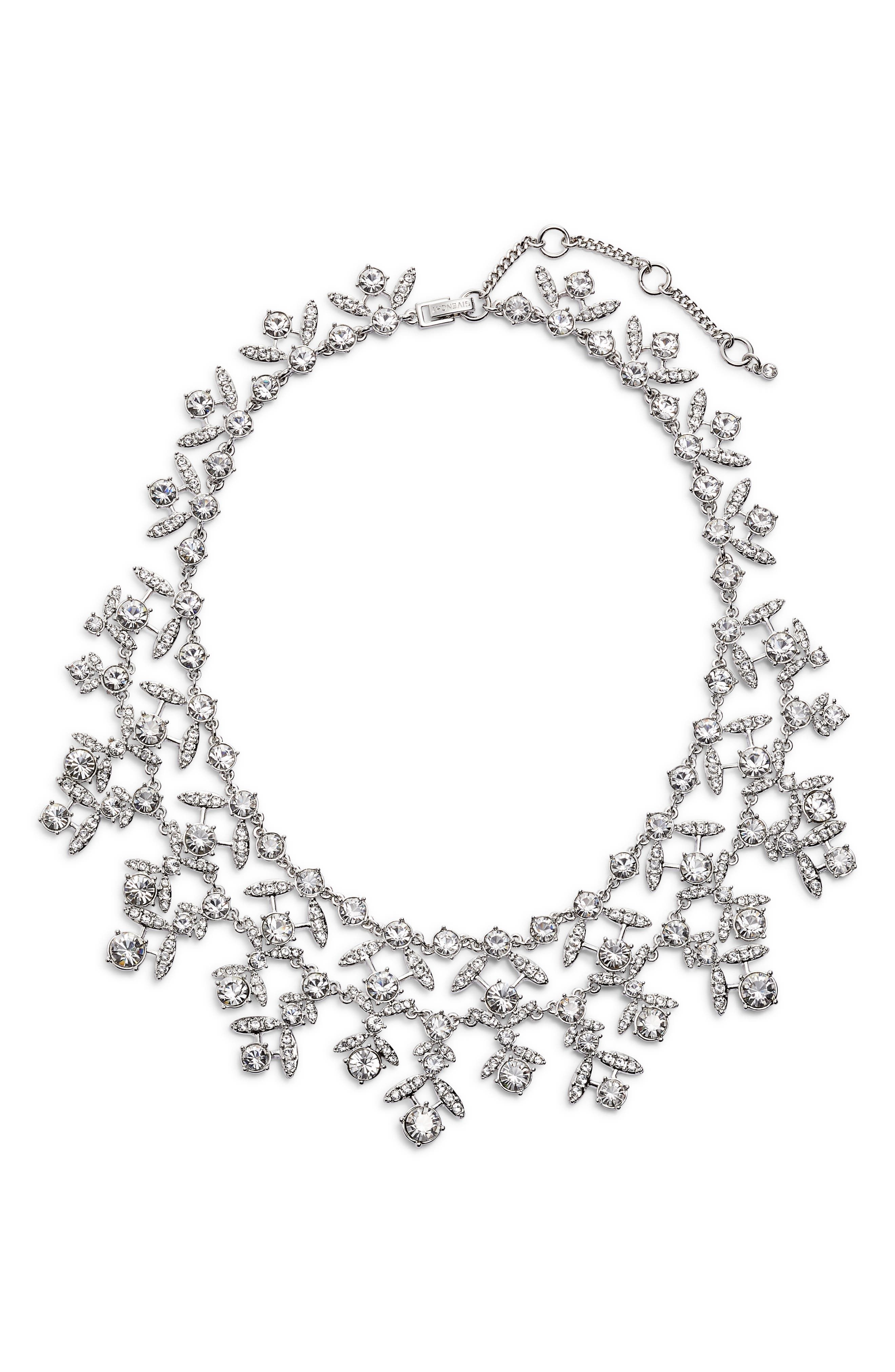 Crystal Collar Necklace,                         Main,                         color, Silver/ Crystal
