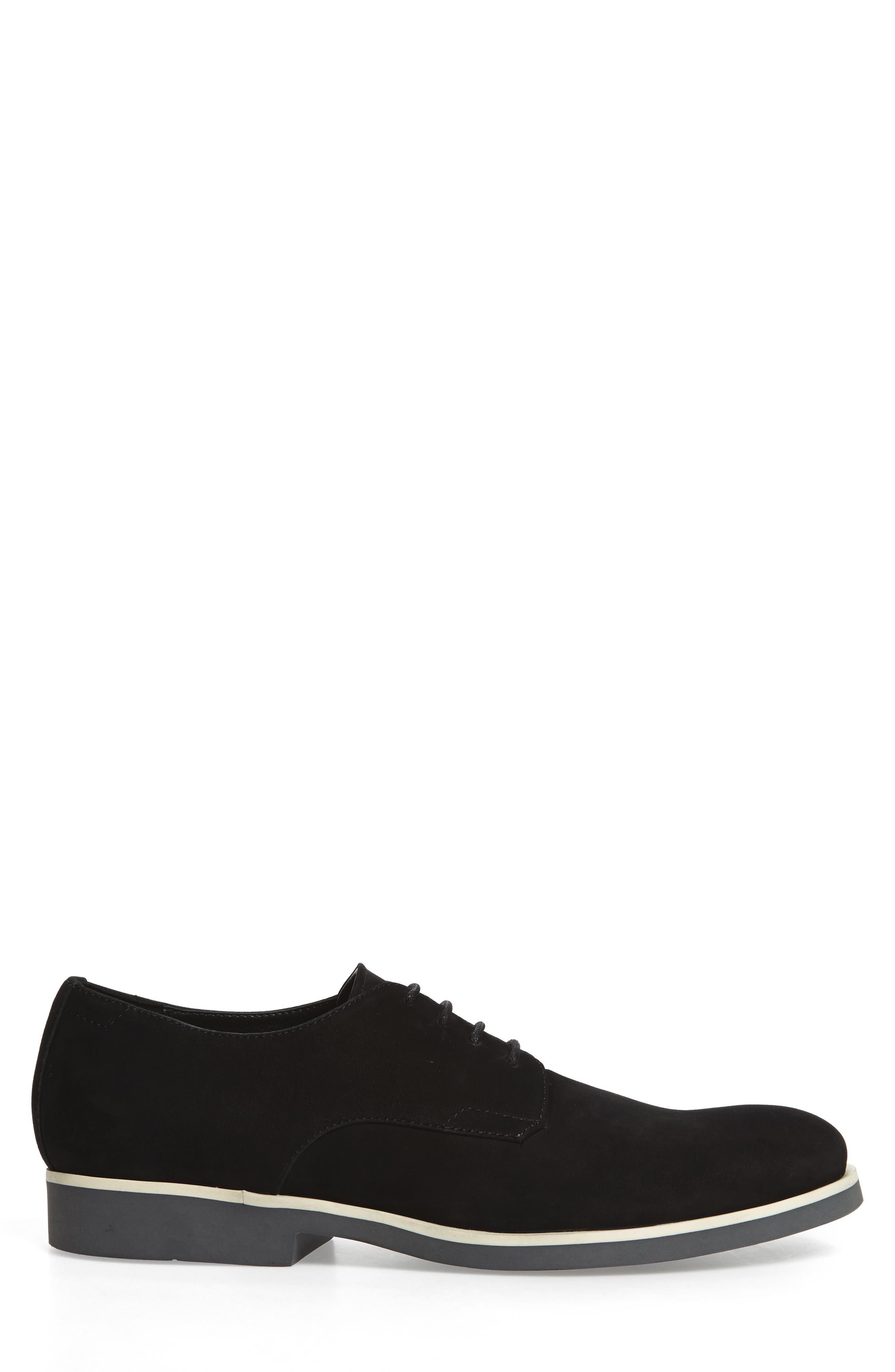 Faustino Plain-Toe Oxford,                             Alternate thumbnail 3, color,                             Black Leather