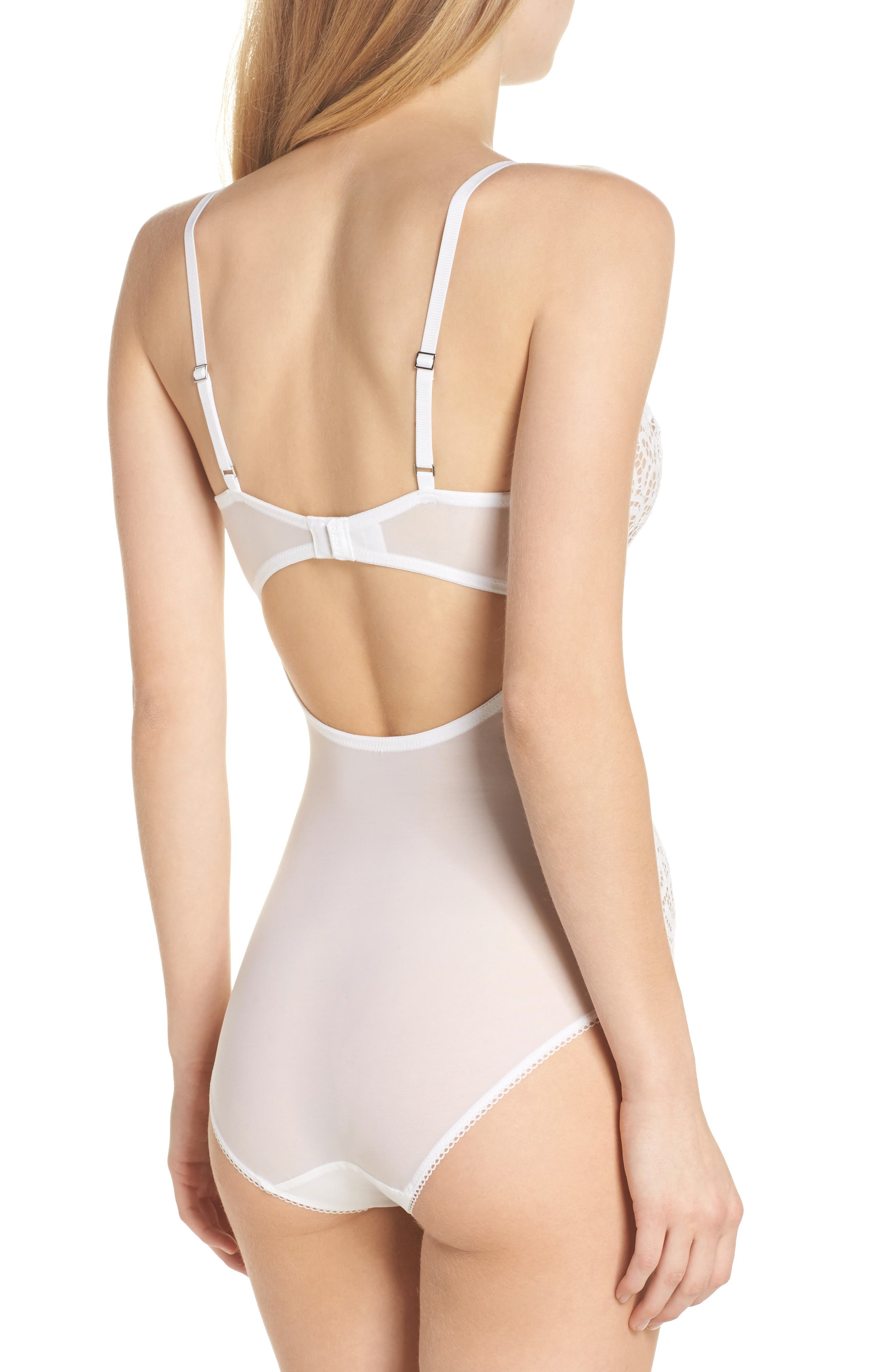 Alternate Image 2  - DKNY Classic Lace Underwire Bodysuit