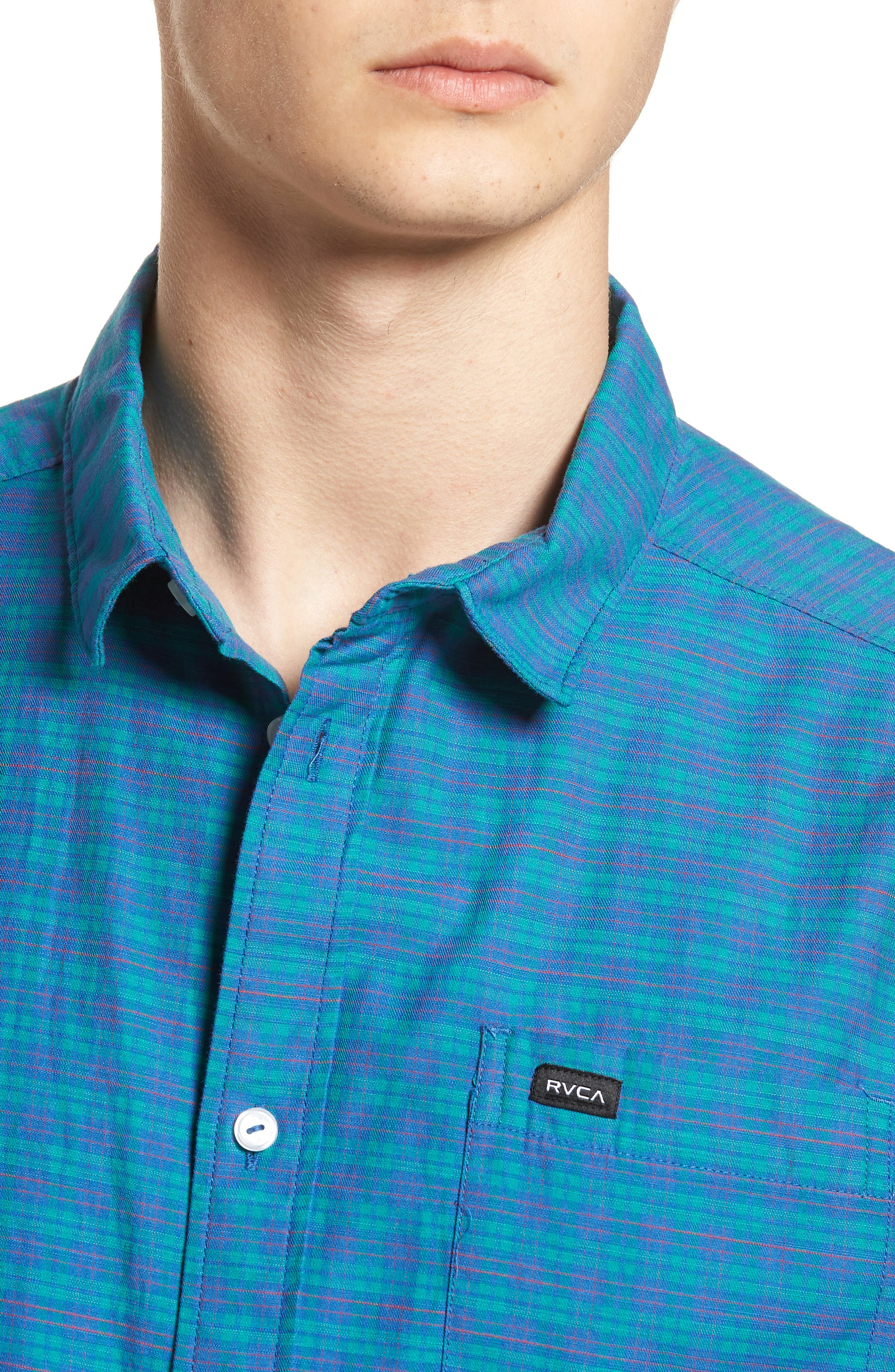 Delivery Woven Shirt,                             Alternate thumbnail 4, color,                             Cobalt