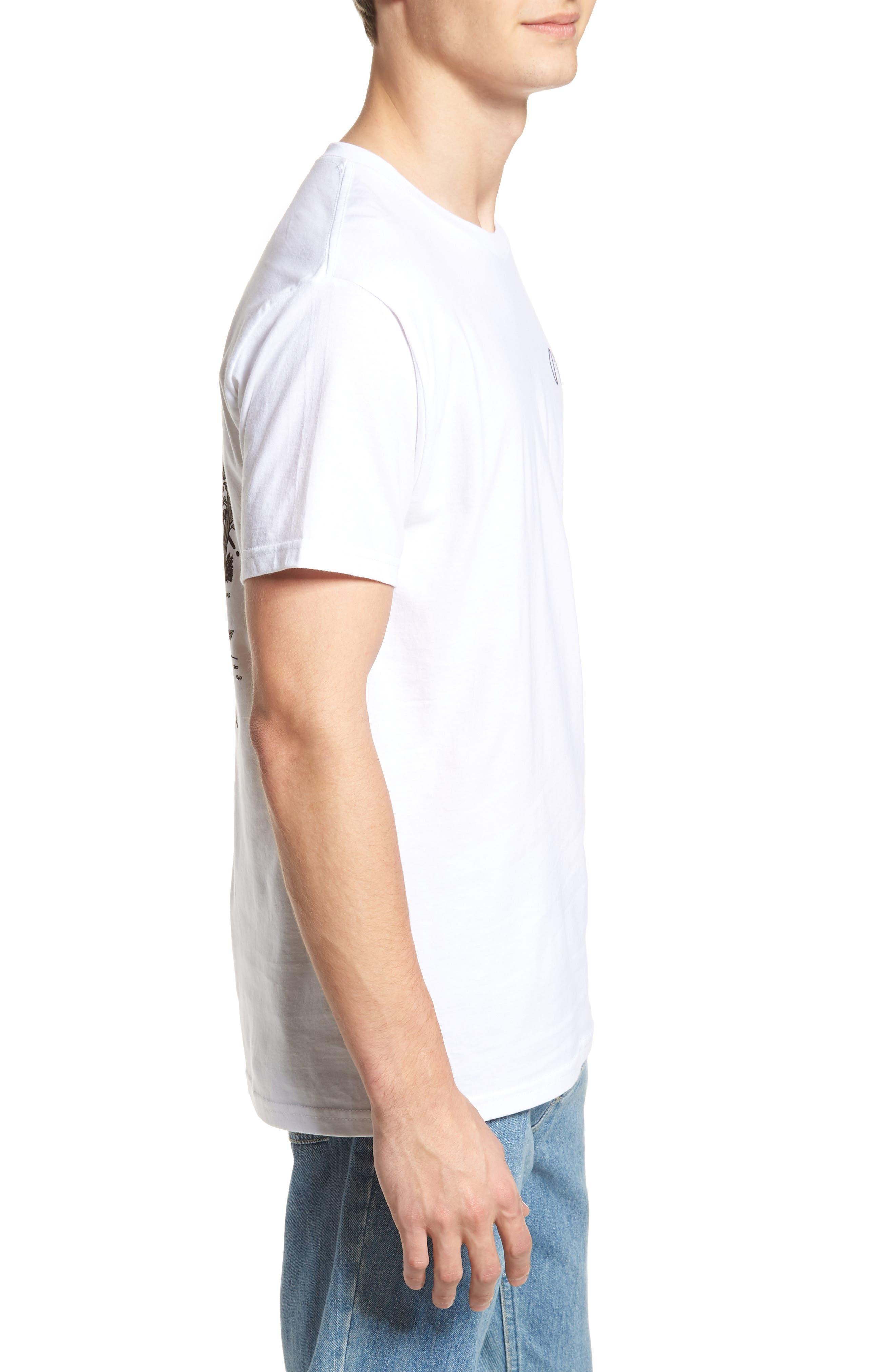Norcal Graphic T-Shirt,                             Alternate thumbnail 3, color,                             White