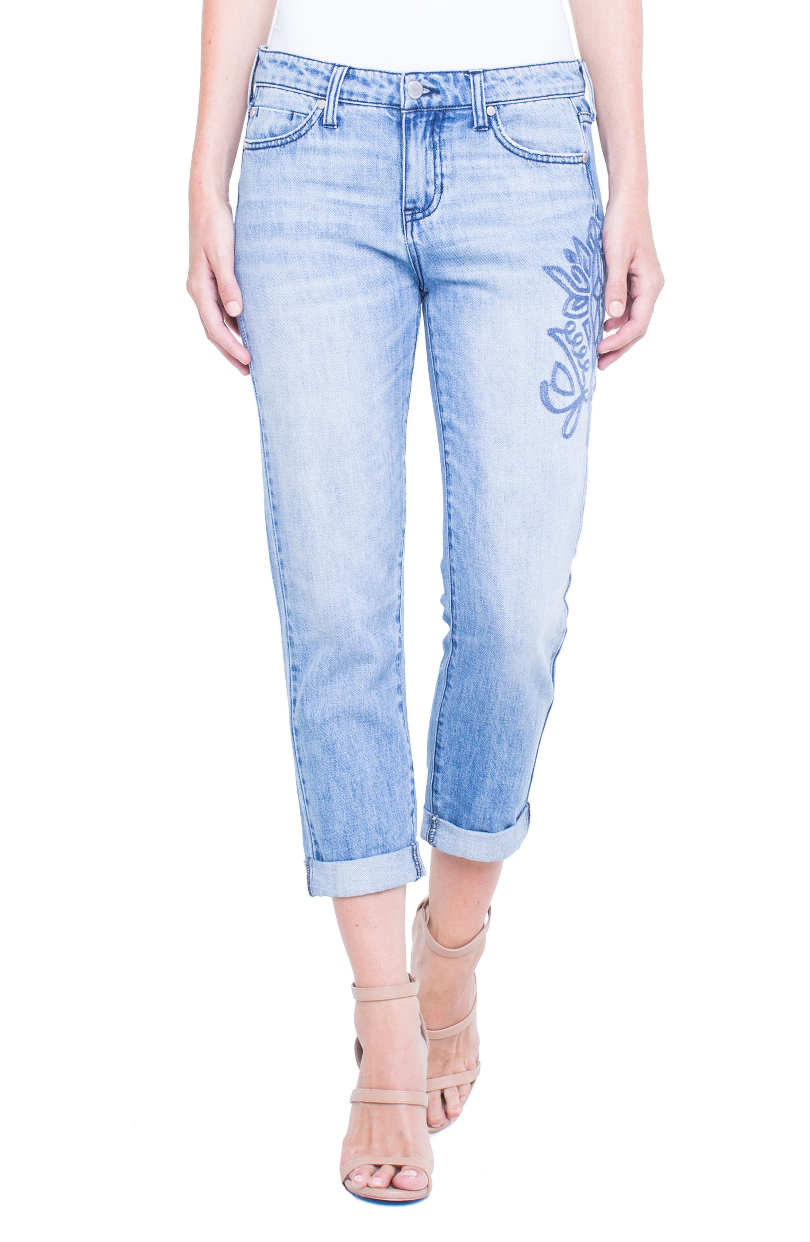 Cameron Embroidered Crop Boyfriend Jeans,                         Main,                         color, Skyline