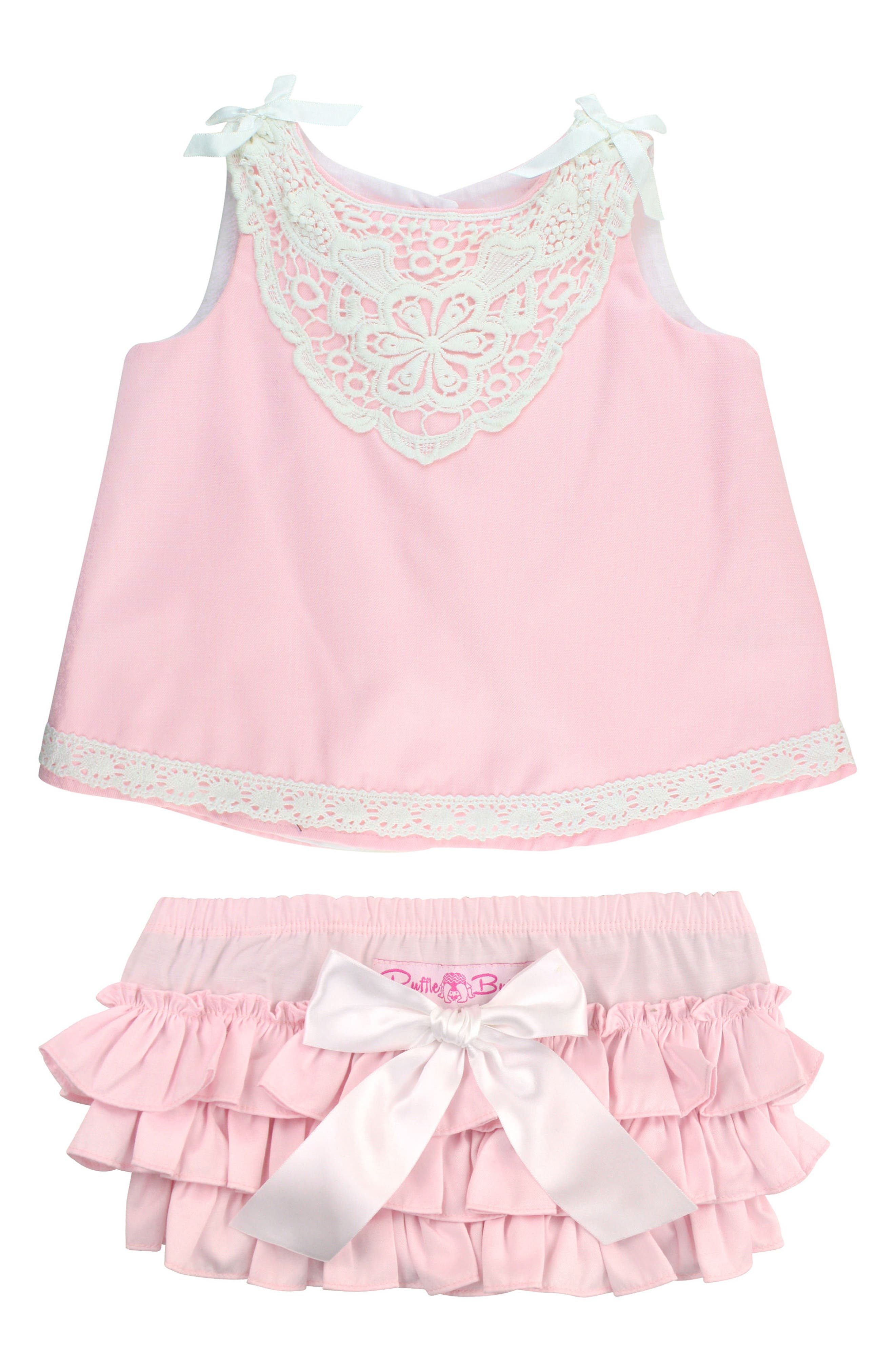 Chambray Swing Top & Ruffle Bloomers Set,                         Main,                         color, Pink